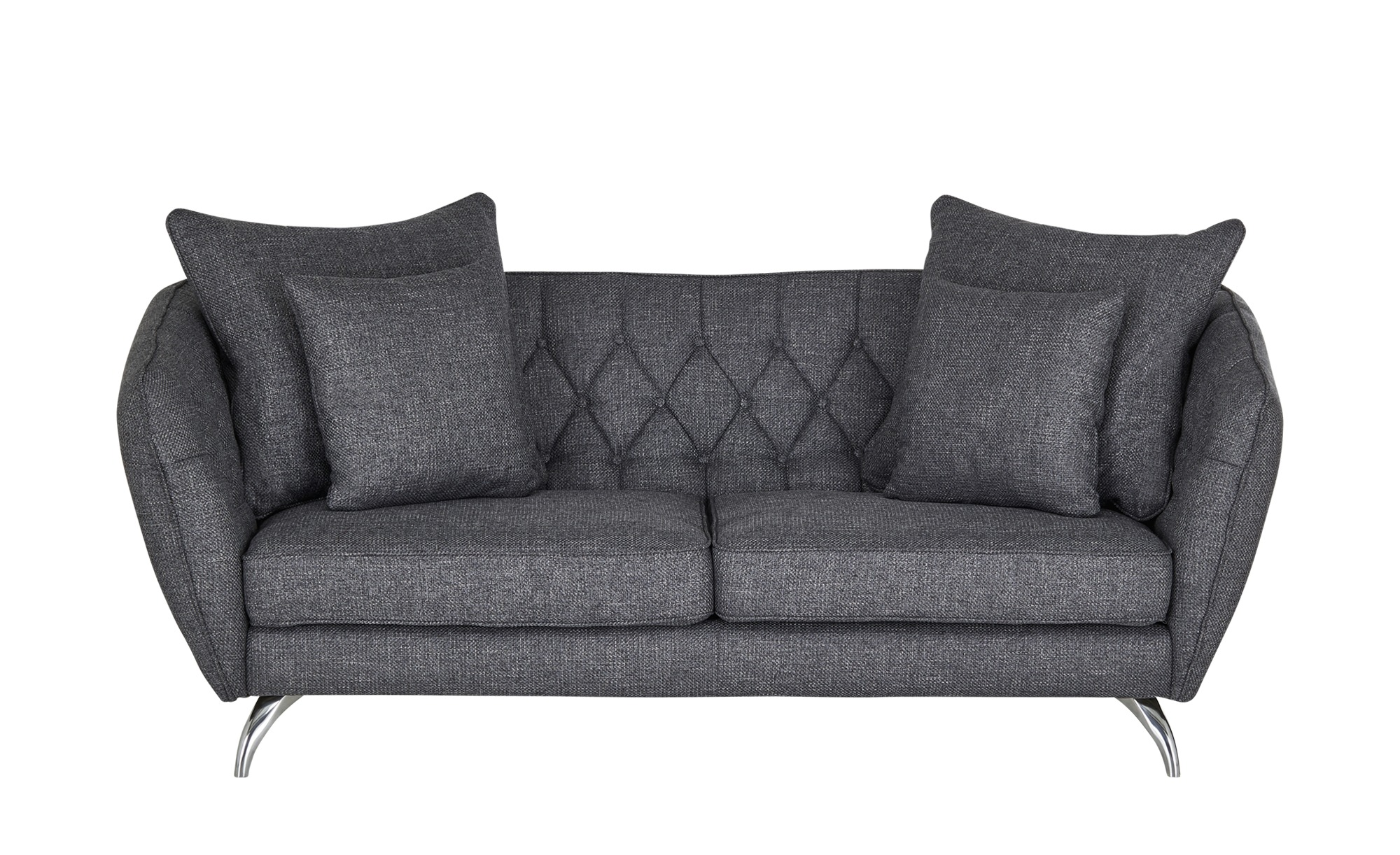 Sofa 2,5-sitzig graublau - Flachgewebe Schongau ¦ Maße (cm): B: 210 H: 73 T: 100 Polstermöbel > Sofas > Einzelsofas - Höffner