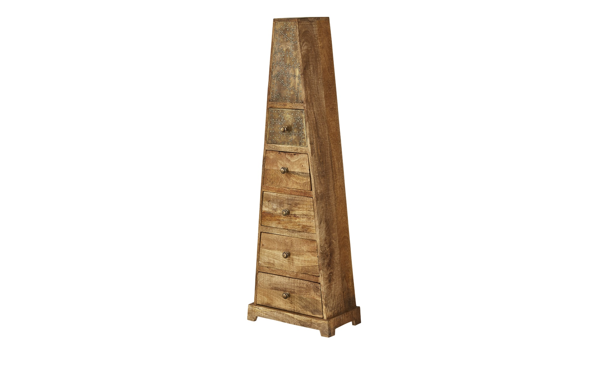 Kommode in Pyramidenform  Soraya ¦ holzfarben ¦ Maße (cm): B: 48 H: 150 T: 25 Kommoden & Sideboards > Kommoden - Höffner