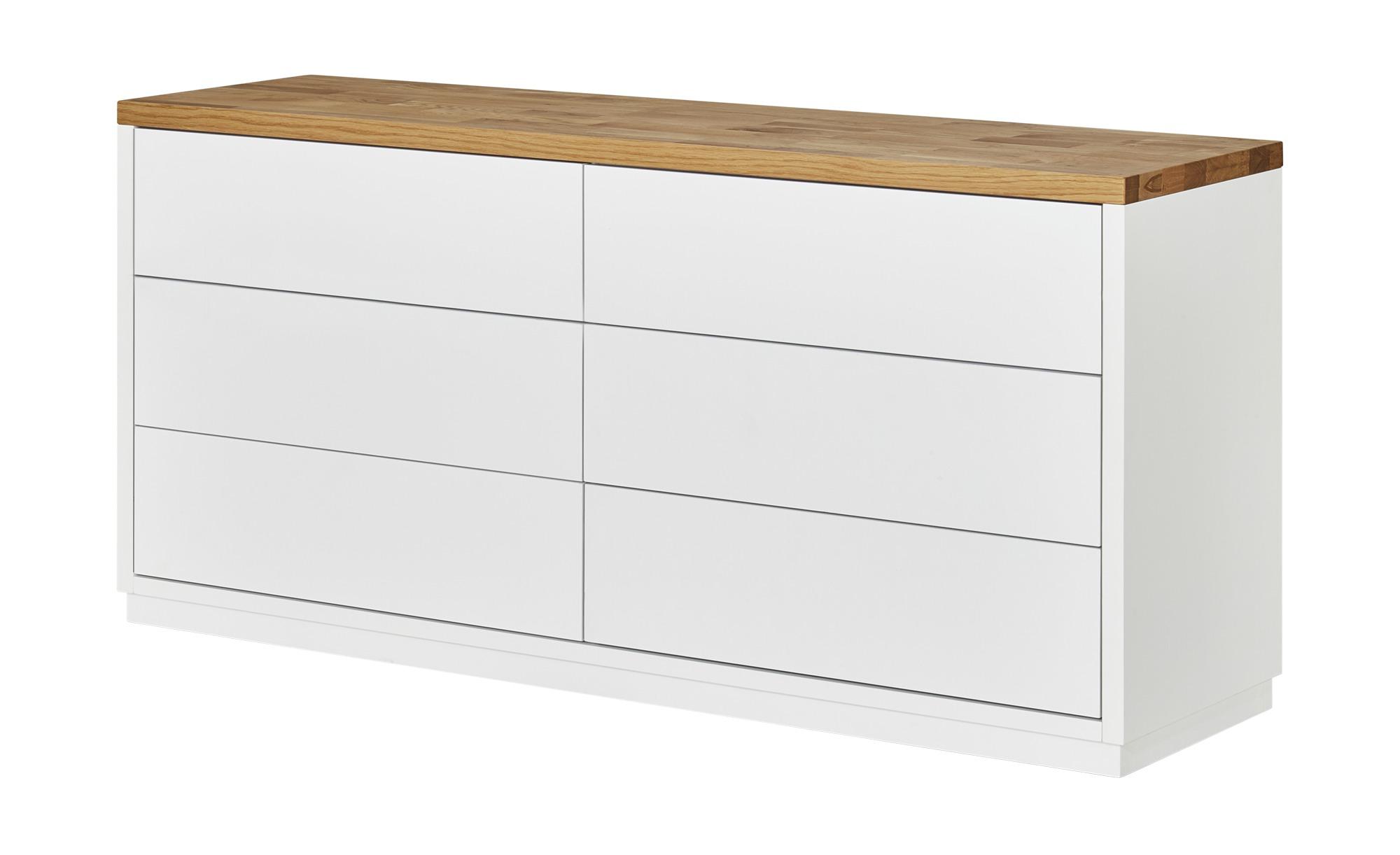 Sideboard 6 Schübe Bozen ¦ weiß ¦ Maße (cm): B: 160 H: 76 T: 45 Kommoden & Sideboards > Kommoden - Höffner