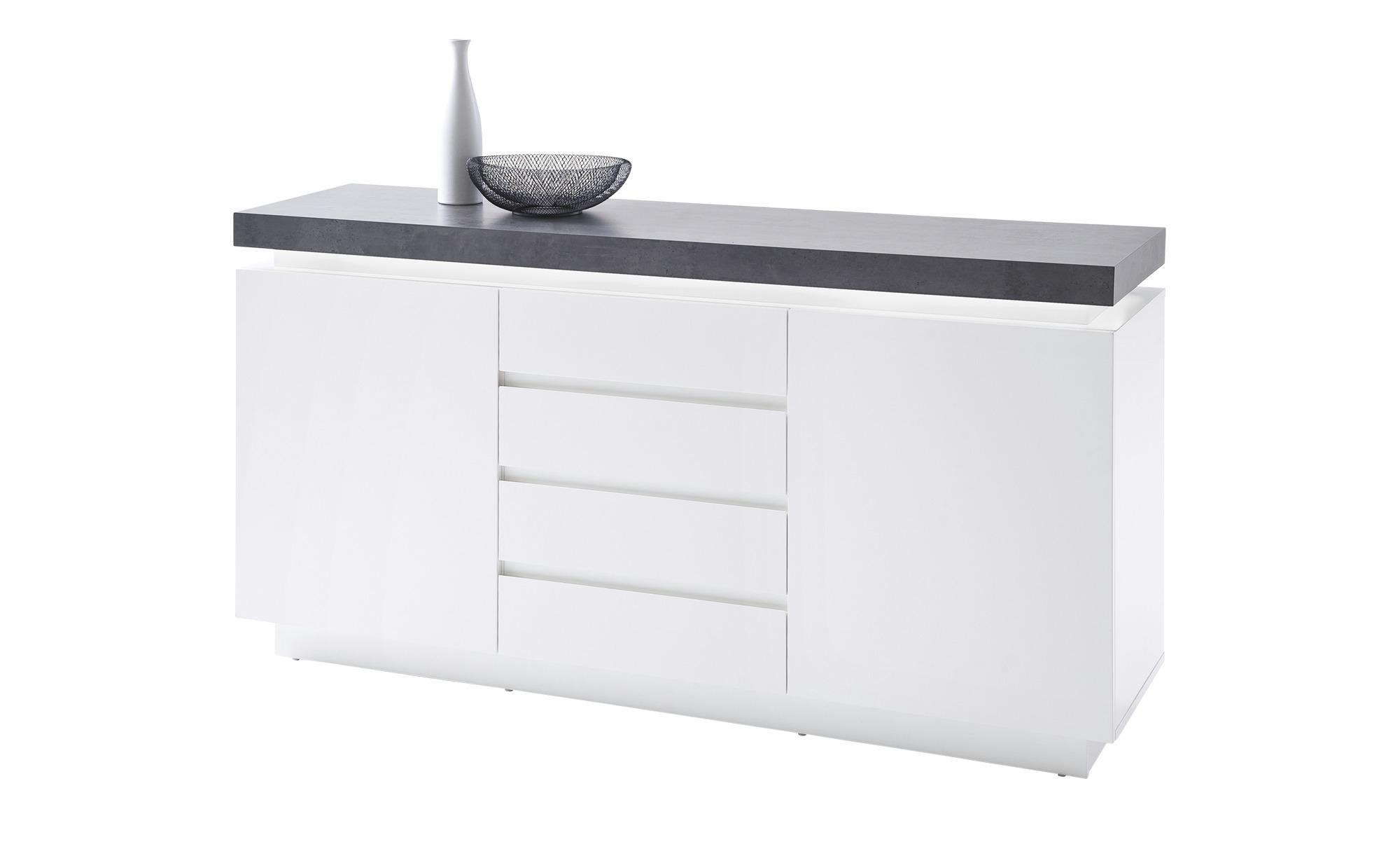Sideboard  Fornico ¦ grau ¦ Maße (cm): B: 150 H: 80 T: 40 Kommoden & Sideboards > Sideboards - Höffner