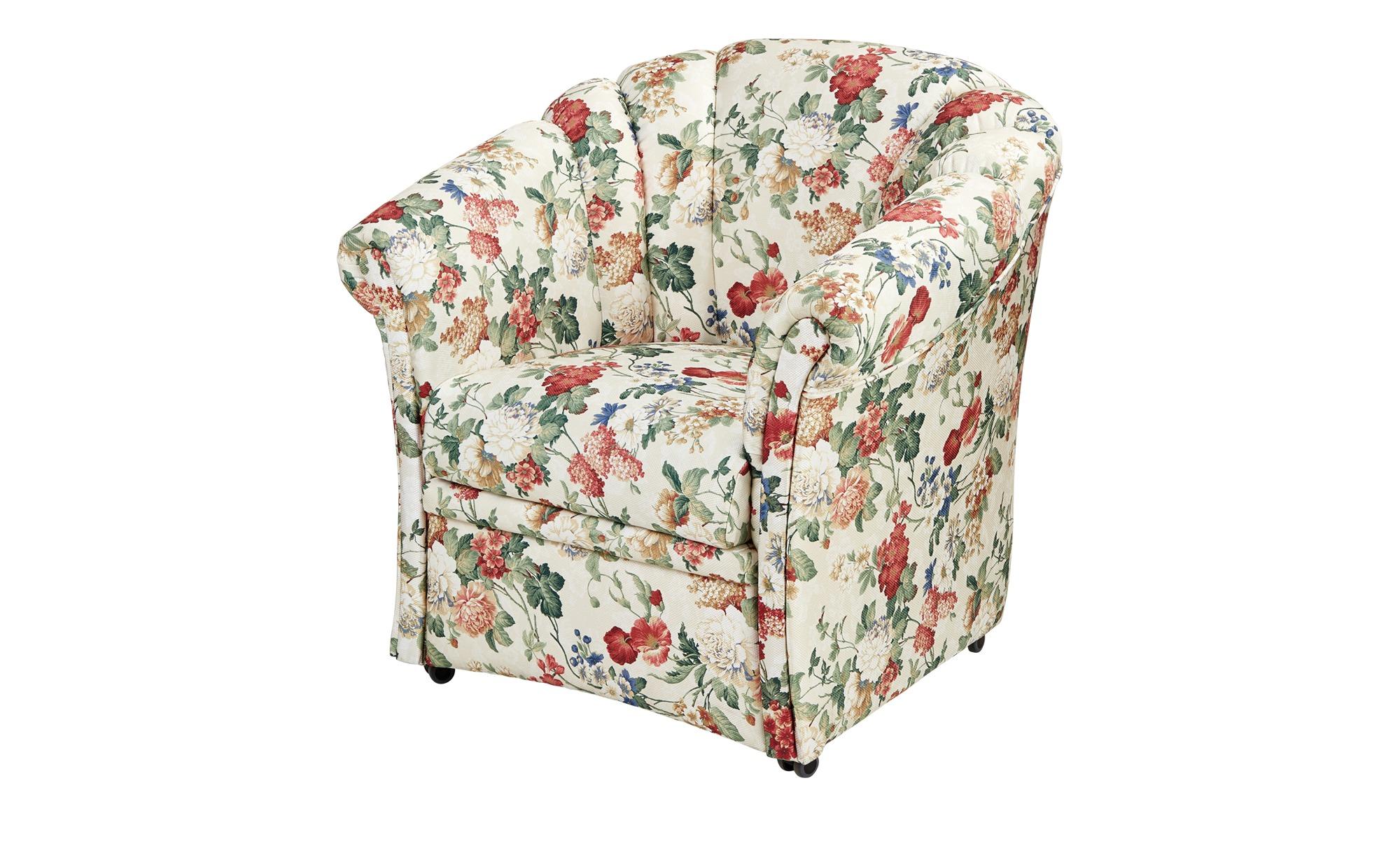 Geblümter Sessel bunt - Stoff Anke ¦ mehrfarbig ¦ Maße (cm): B: 81 H: 85 T: 78 Polstermöbel > Sessel > Polstersessel - Höffner