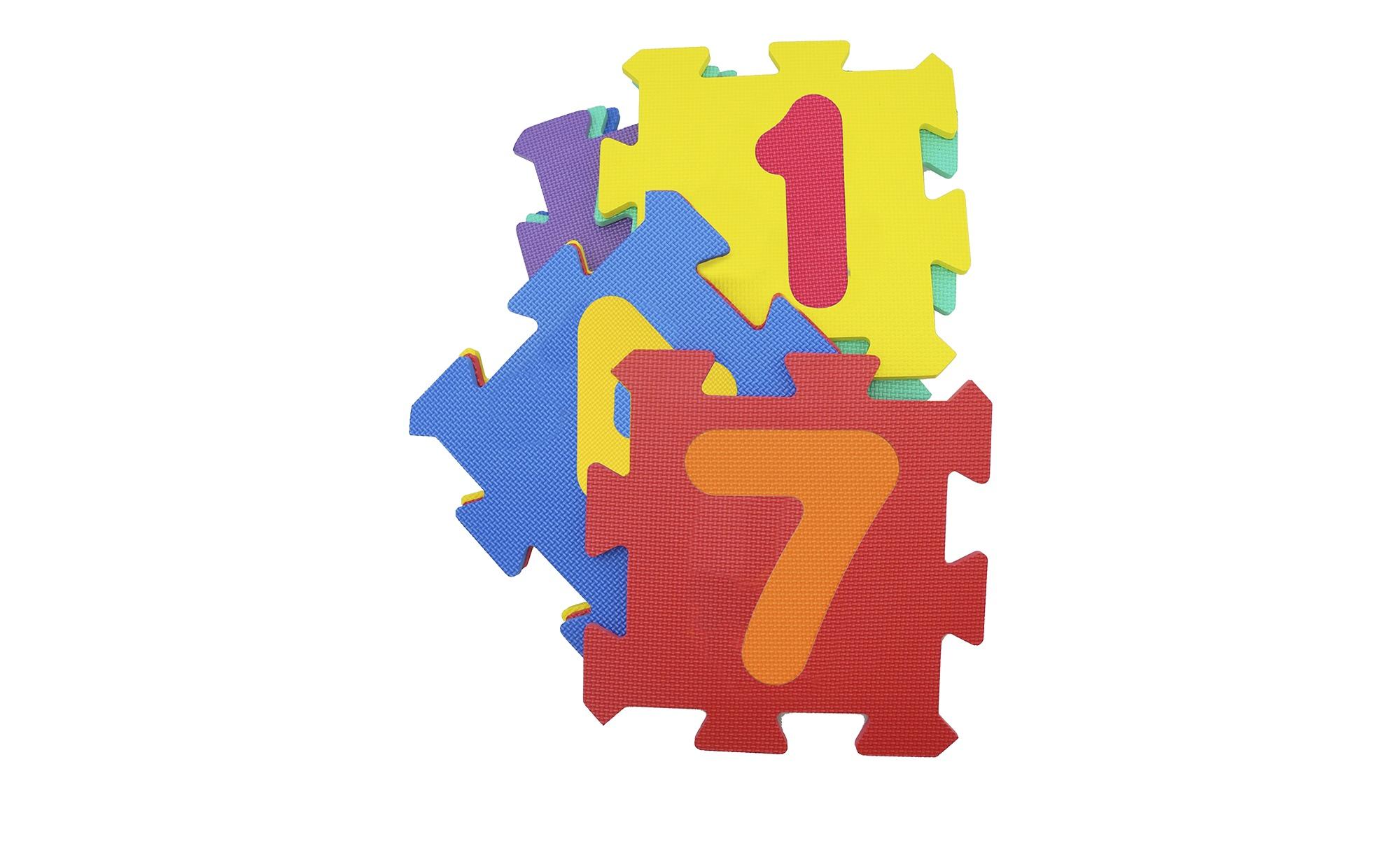 Puzzelmatte  Zahlen ¦ mehrfarbig ¦  Matten mit einem farbigen Gummi beschichtet, 100% Polyurethan ¦ Maße (cm): B: 32 H: 1 T: 9 Teppiche > Kinderteppiche - Höffner
