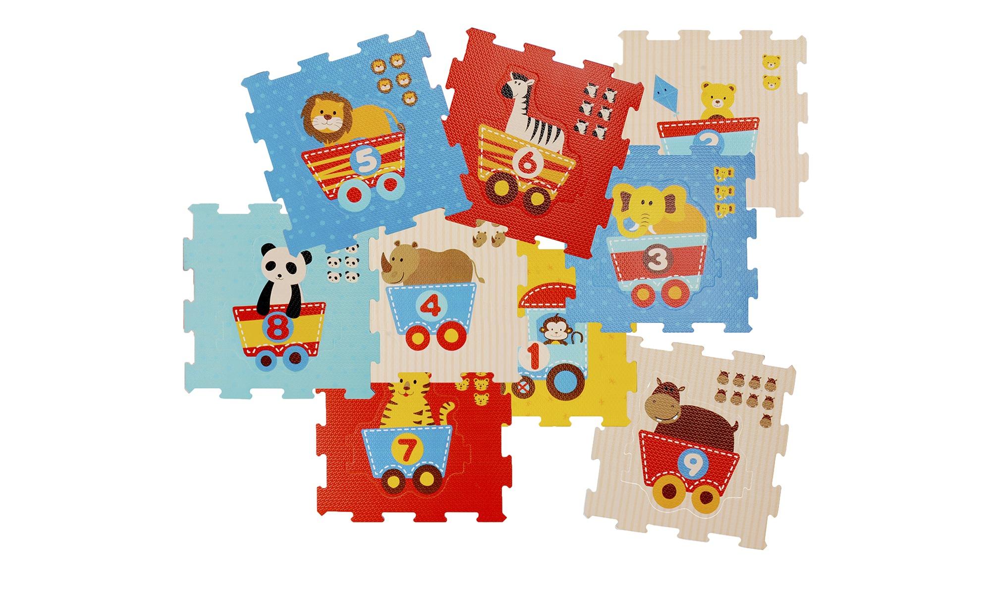 Puzzelmatte  Tier Motivzug ¦ mehrfarbig ¦ Matten mit einem farbigen Gummi beschichtet, 100% Polyurethan ¦ Maße (cm): B: 32 H: 1 T: 9 Teppiche > Kinderteppiche - Höffner