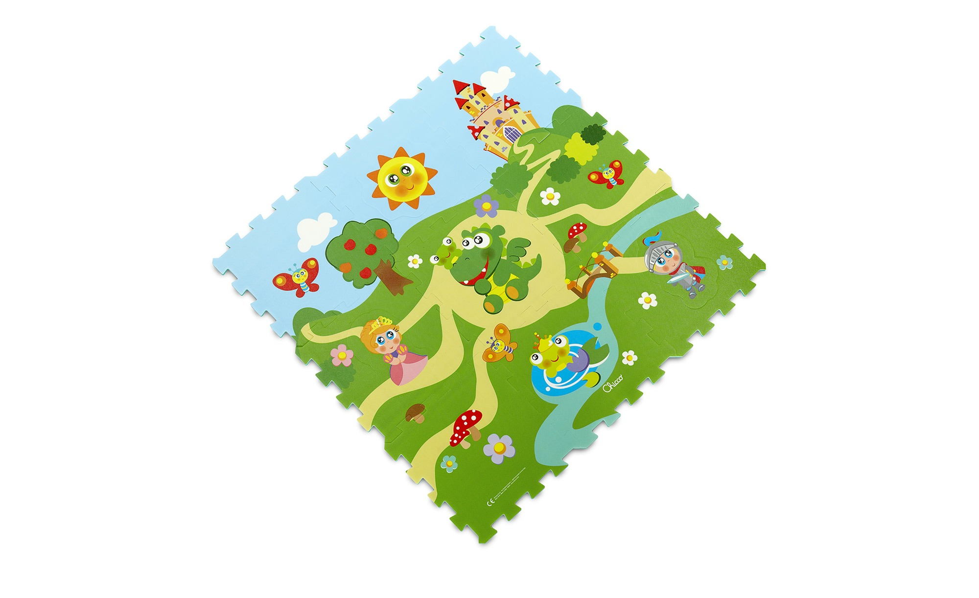 Chicco Puzzelmatte  Schloss ¦ mehrfarbig ¦ PE -Schaumstoff , Oberfläche: Siebdruckschicht  ¦ Maße (cm): B: 93 H: 1 Teppiche > Kinderteppiche - Höffner