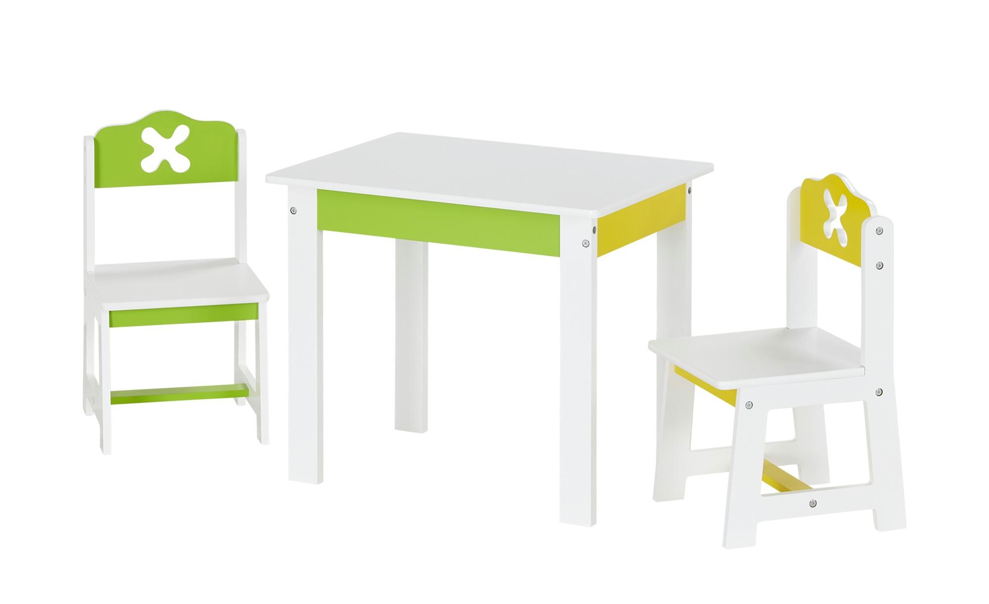 3-teilige Kindersitzgruppe mit bunten Akzenten