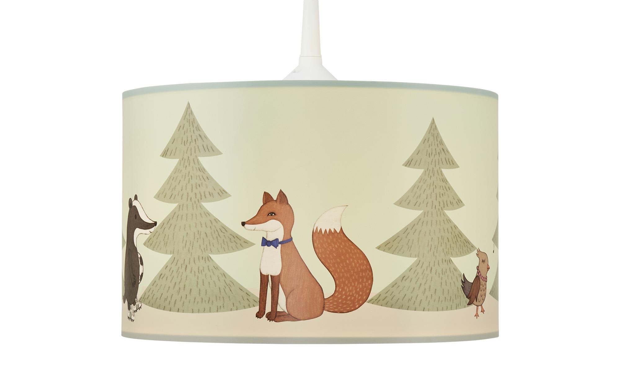 Hängeleuchte  Wald ¦ grün ¦ Maße (cm): H: 18 Ø: [28.0] Lampen & Leuchten > Innenleuchten > Kinderlampen - Höffner