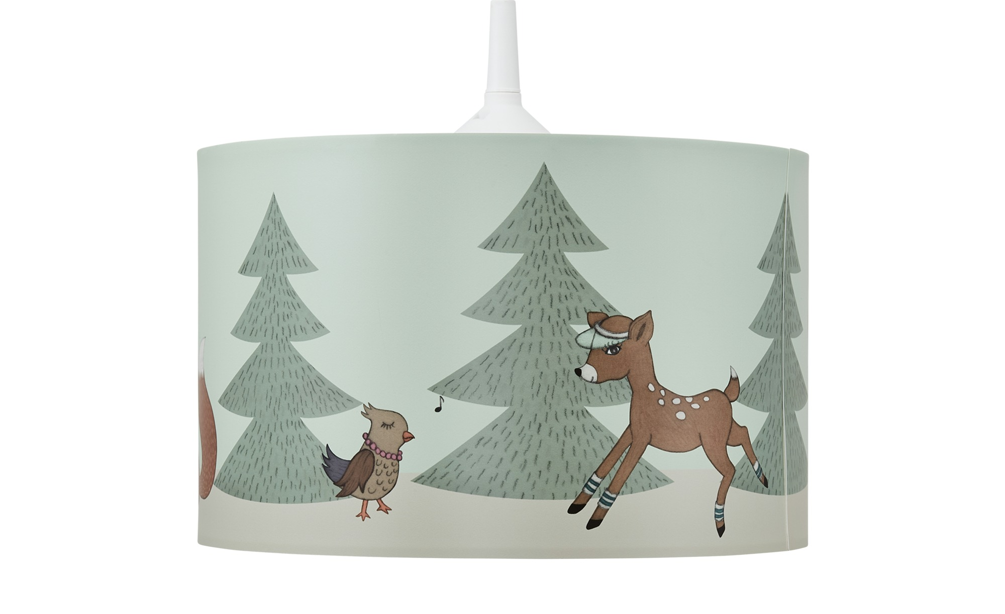 Hängeleuchte  Wald ¦ grün ¦ Maße (cm): H: 18 Ø: 28 Lampen & Leuchten > Innenleuchten > Kinderlampen - Höffner
