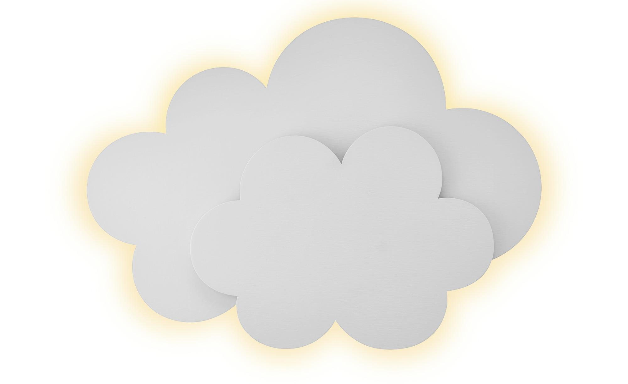 Uups Wandleuchte  Wolke ¦ weiß ¦ Maße (cm): B: 42 H: 31 T: 10 Lampen & Leuchten > Innenleuchten > Kinderlampen - Höffner