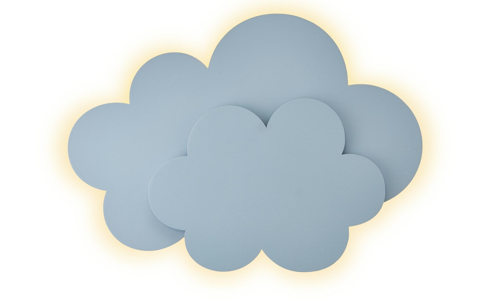 Uups Wandleuchte  Wolke ¦ blau ¦ Maße (cm): B: 42 H: 31 T: 10 Lampen & Leuchten > Innenleuchten > Kinderlampen - Höffner
