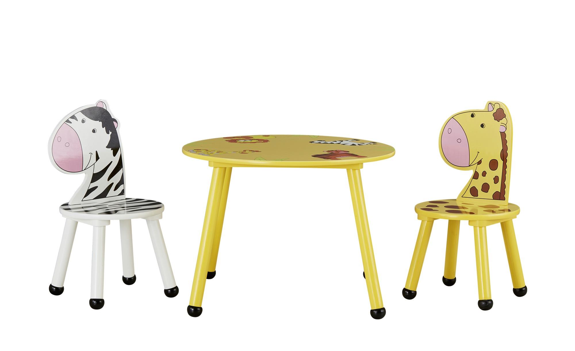 Kindersitzgruppe 'Savanna' mit Stuhllehnen in Tierform
