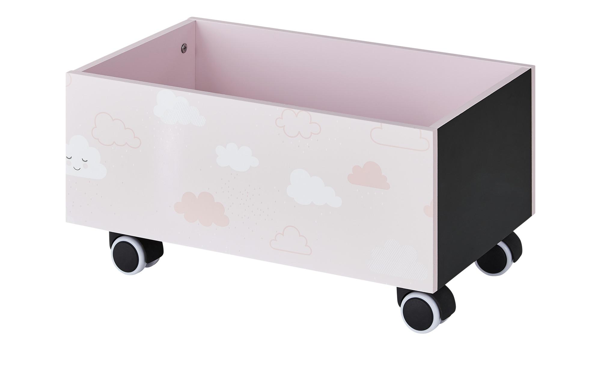 #Uups Aufbewahrungsbox   Wolke ¦ rosa/pink ¦ Holzwerkstoff lackiert, bedruckt, Rollen aus Kunststoff und Gummierung ¦ Maße (cm): B: 30 H: 25 Baby > Unterwegs > Boxen – Höffner#