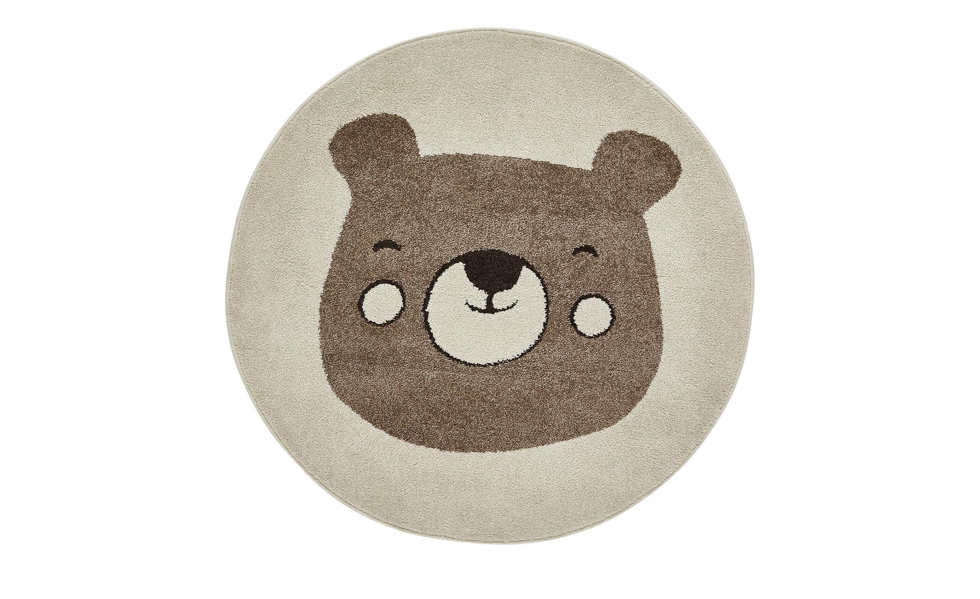 Kinderteppich   Bärengesicht Ida ¦ creme ¦ 100% Polypropylen, Synthethische FasernØ: [120.0] Teppiche > Kinderteppiche - Höffner