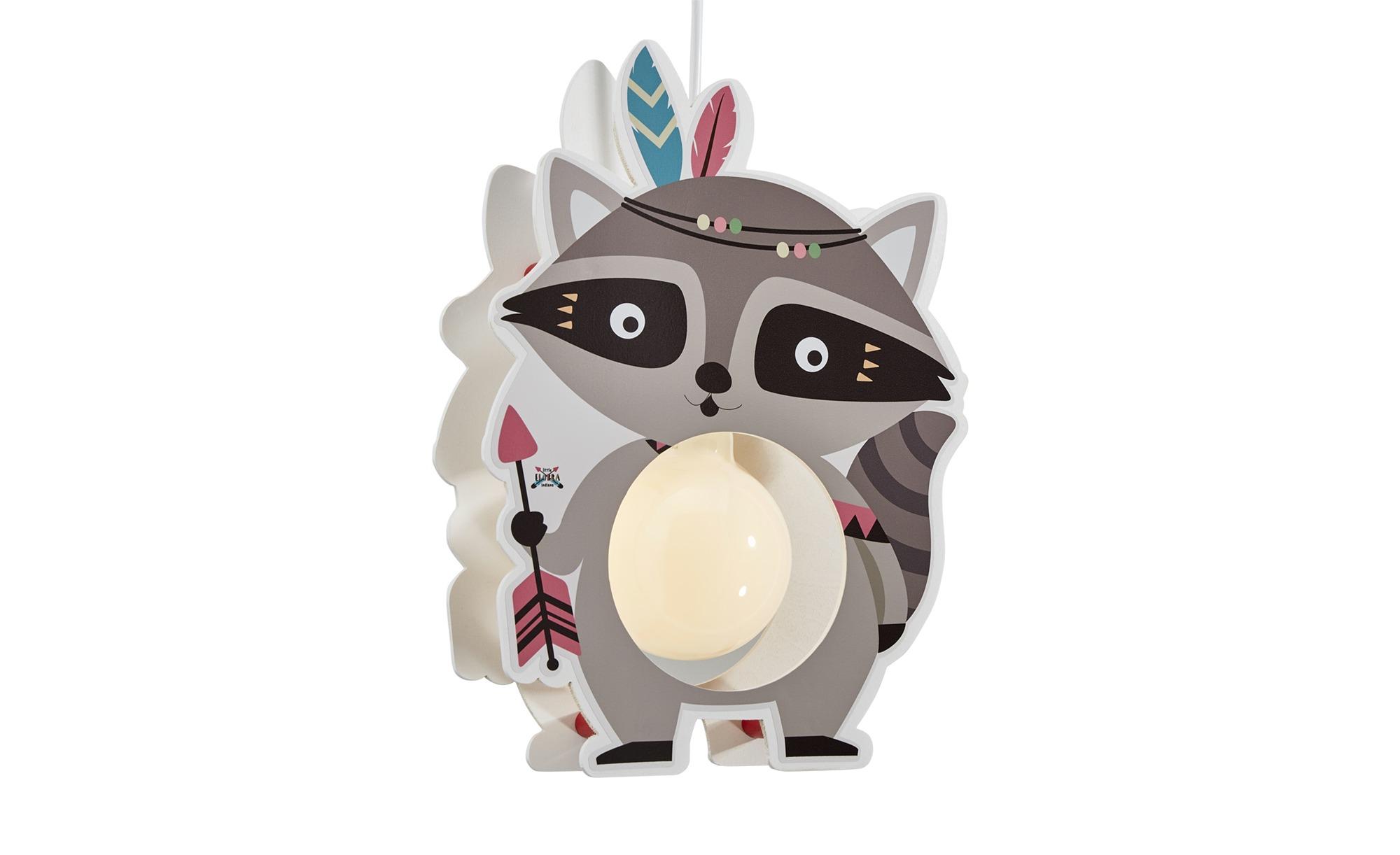 Pendelleuchte  Waschbär Oskar ¦ grau ¦ Maße (cm): B: 35 T: 15 Lampen & Leuchten > Innenleuchten > Kinderlampen - Höffner