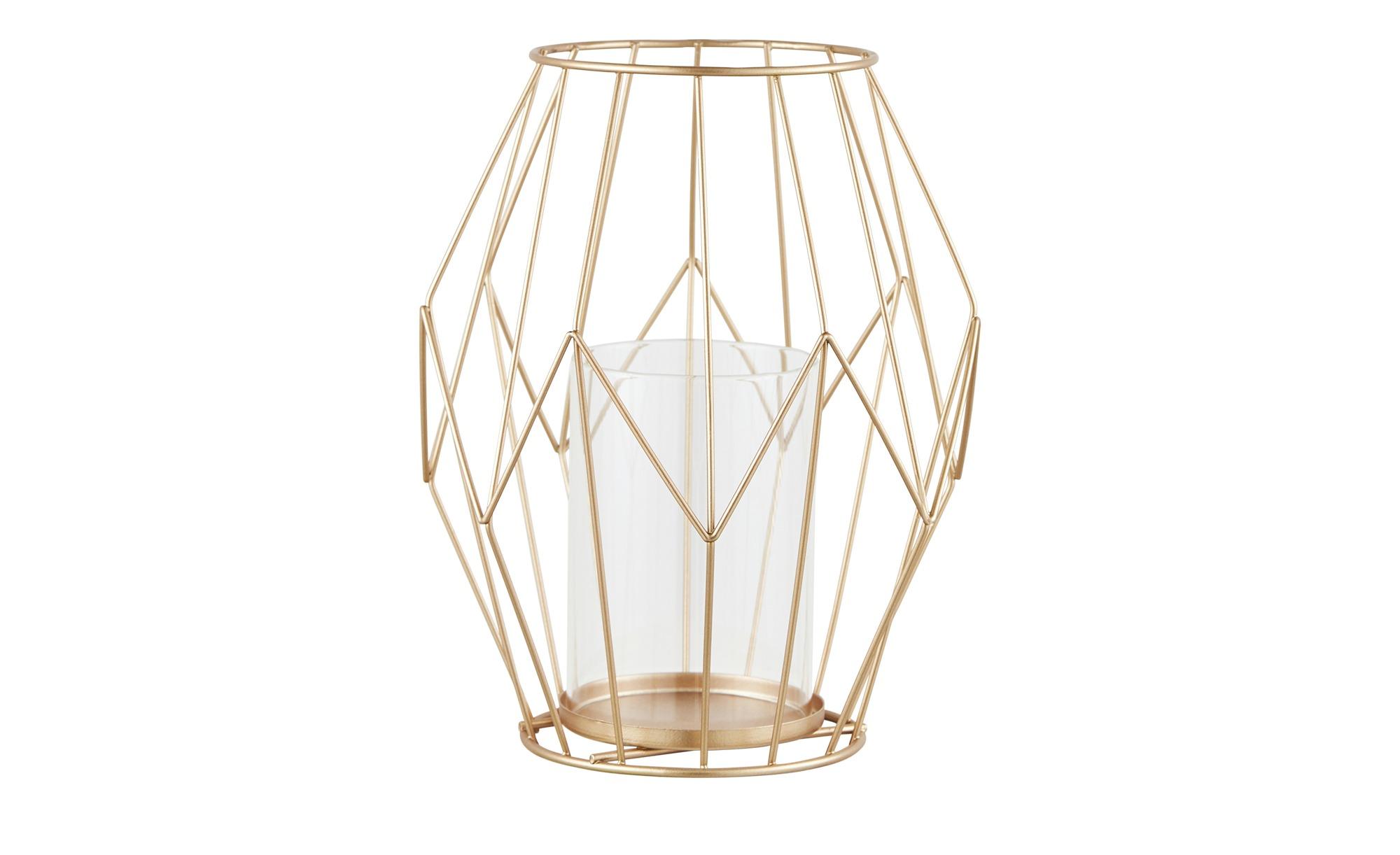 Windlicht mit Glaseinsatz ¦ kupfer Dekoration > Laternen & Windlichter - Höffner | Dekoration > Kerzen und Kerzenständer > Windlichter | Kupfer | Möbel Höffner DE