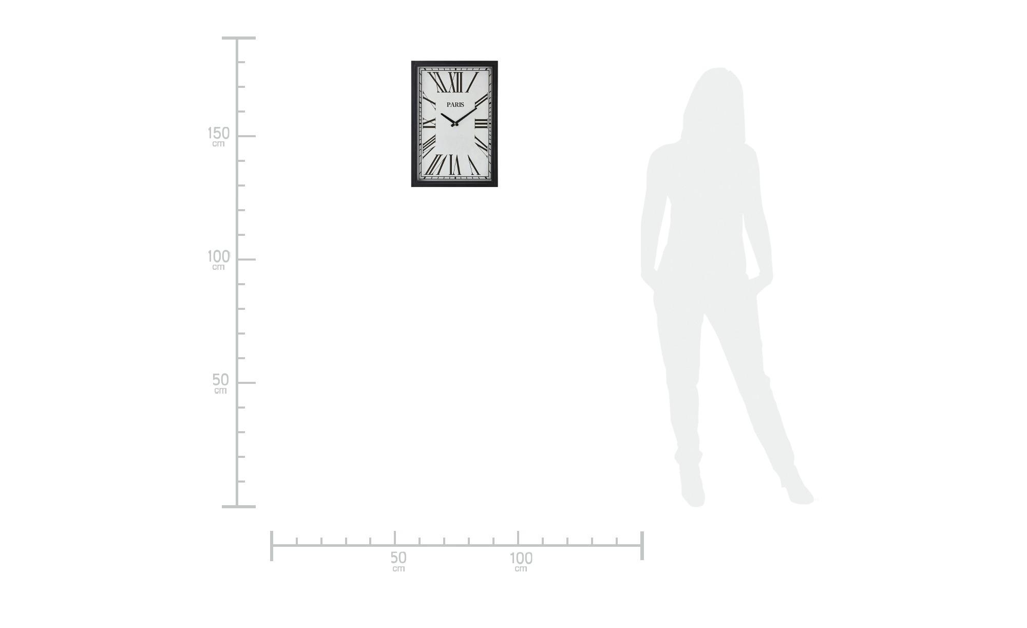 Wanduhr ¦ schwarz Dekoration > Uhren & Wetterstationen - Höffner | Dekoration > Uhren | Schwarz | Möbel Höffner DE