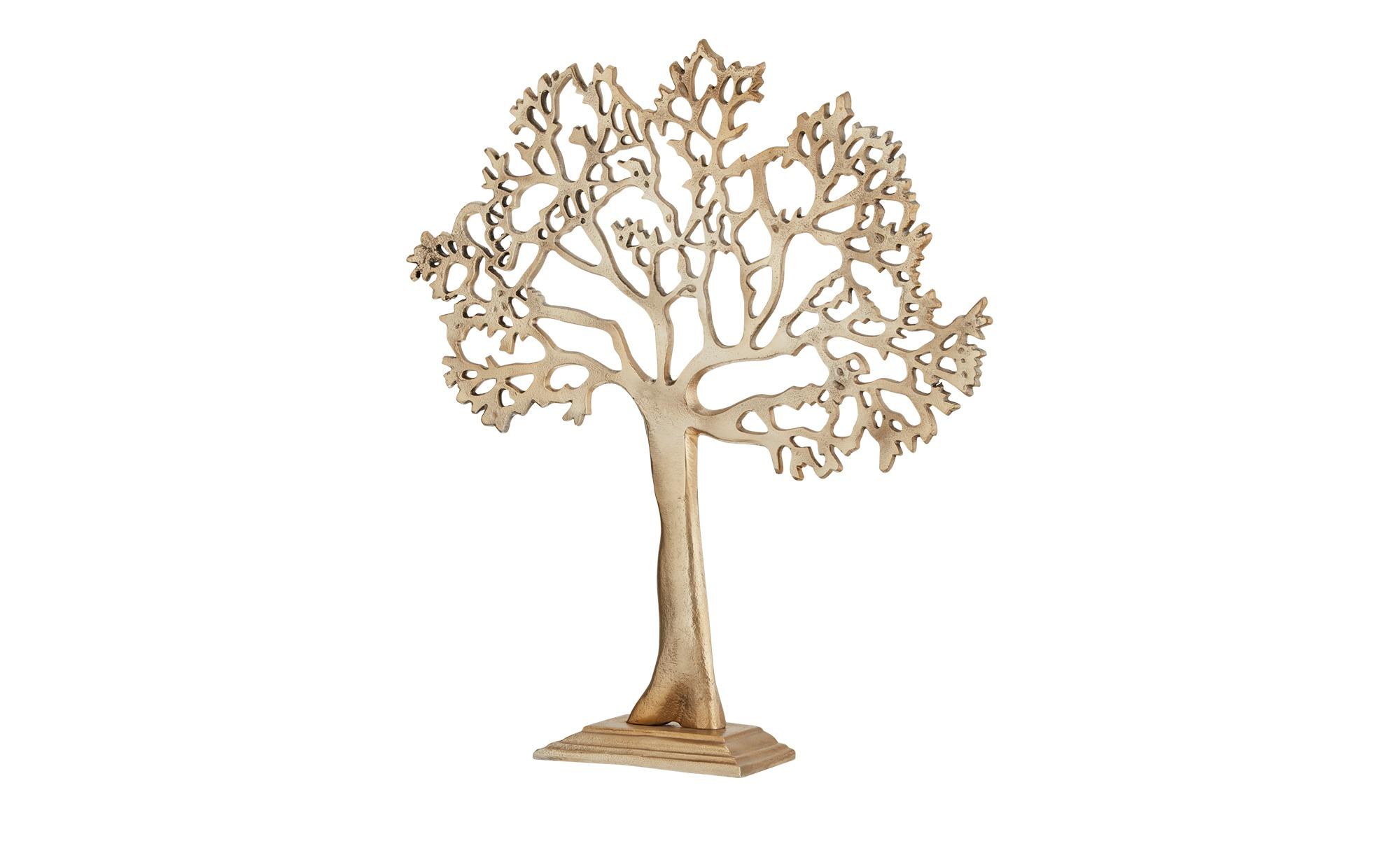 Deko Objekt   Baum ¦ gold ¦ Aluminum ¦ Maße (cm): B: 39 H: 42 T: 8,2 Dekoration > Dekoartikel - Höffner | Dekoration > Wandtattoos | Gold | Aluminum | Möbel Höffner DE