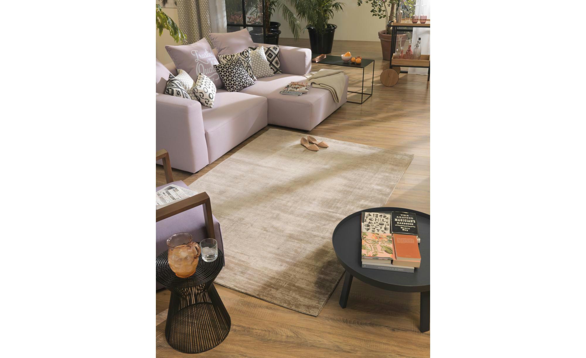Tom Tailor Teppich handgewebt  Shine ¦ braun ¦ reine Viskose ¦ Maße (cm): B: 65 Teppiche > Wohnteppiche - Höffner