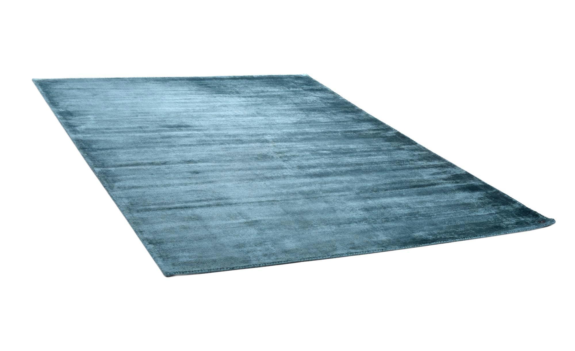 Tom Tailor Teppich handgewebt  Shine ¦ blau ¦ reine Viskose ¦ Maße (cm): B: 65 Teppiche > Wohnteppiche - Höffner