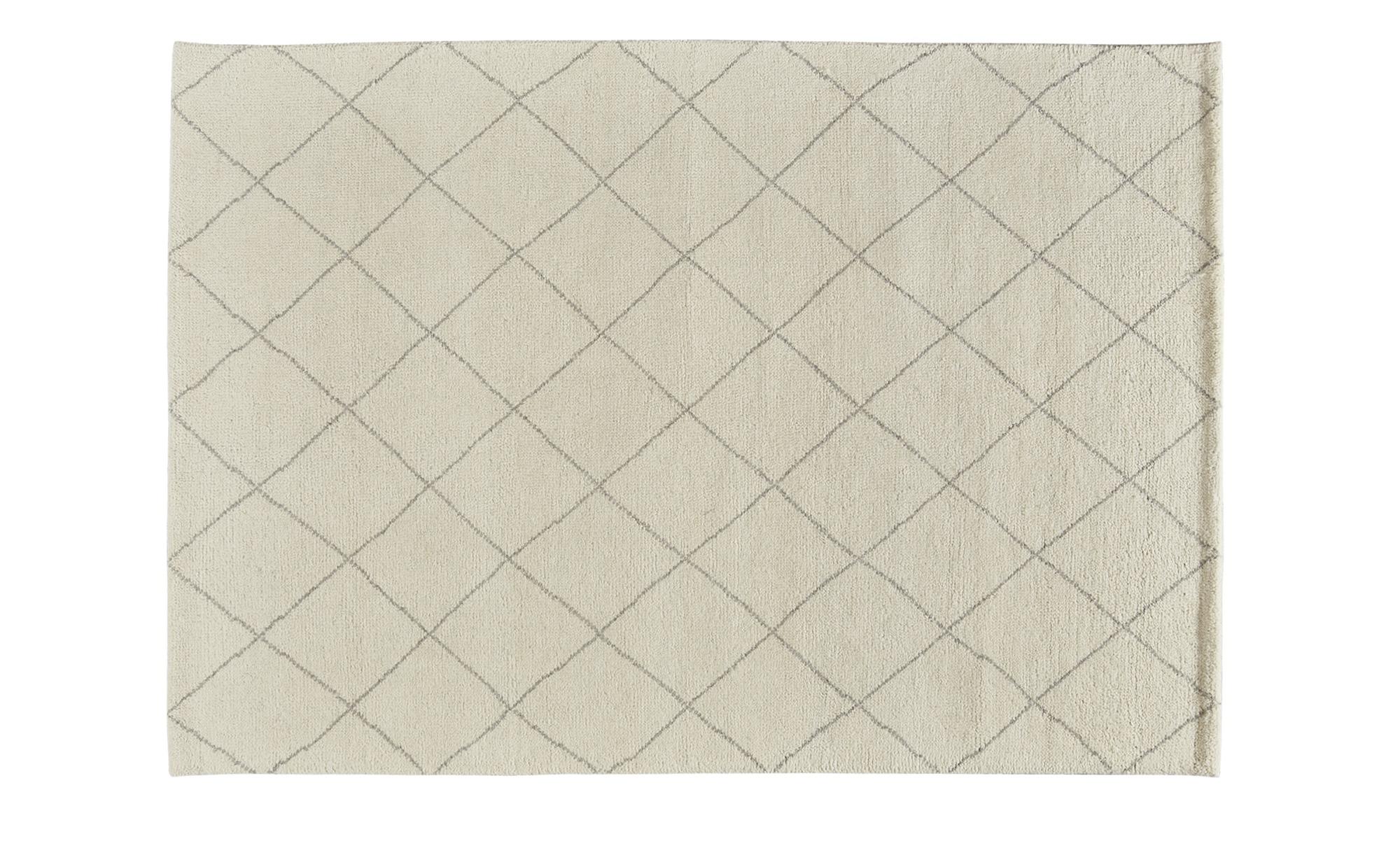 Berber-Teppich  Marrakesh Design simple ¦ weiß ¦ reine Wolle ¦ Maße (cm): B: 170 Teppiche > Wohnteppiche - Höffner | Heimtextilien > Teppiche > Berberteppiche | Weiß | Wolle | Möbel Höffner DE