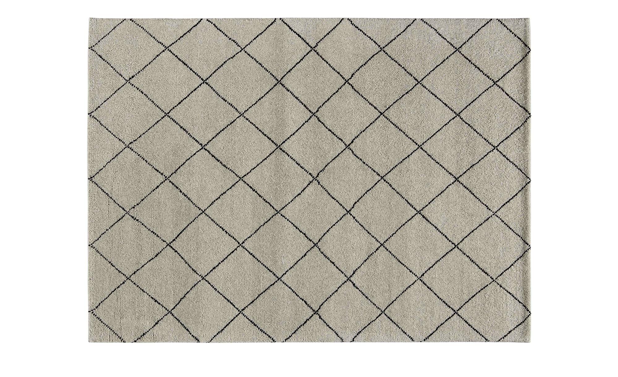 Berber-Teppich  Marrakesh Design simple ¦ grau ¦ reine Wolle, Wolle ¦ Maße (cm): B: 120 Teppiche > Wohnteppiche > Naturteppiche - Höffner | Heimtextilien > Teppiche > Berberteppiche | Möbel Höffner DE