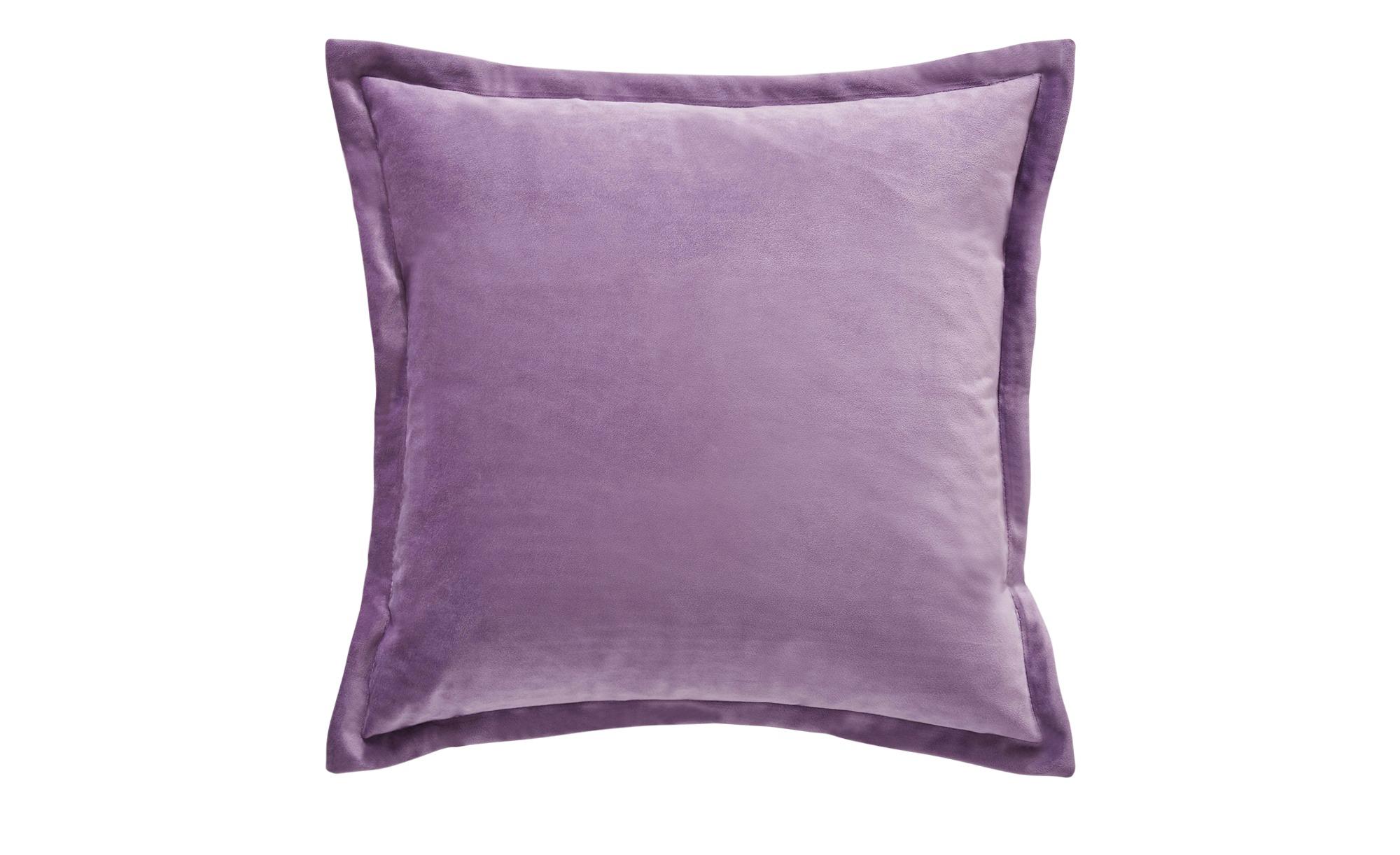 HOME STORY Kissen  Charlotte ¦ lila/violett ¦ Samt ¦ Maße (cm): B: 45 H: 2,5 T: 2,5 Heimtextilien > Kissen > Dekokissen - Höffner