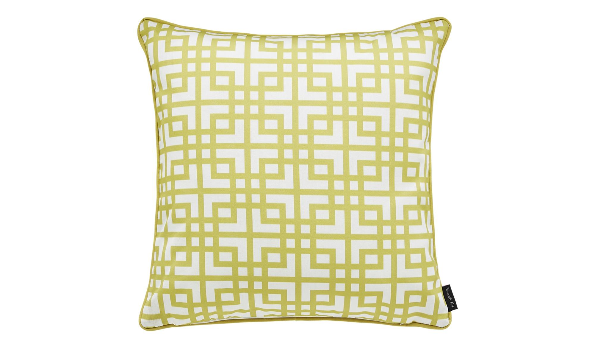 Outdoor-Kissen  Lounge ¦ gelb ¦ 100% silikonisierte Polyesterholfasern, spiralgekräuselt ¦ Maße (cm): B: 48 Heimtextilien > Kissen > Dekokissen - Höffner
