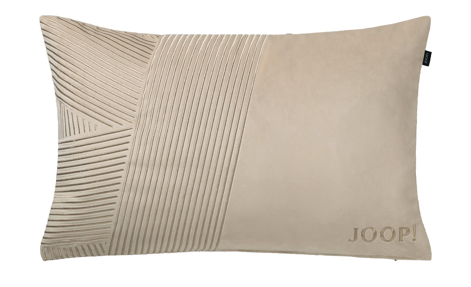 JOOP! Kissen  J-Squared 70432 ¦ beige ¦ Polyester ¦ Maße (cm): B: 38 Heimtextilien > Kissen > Dekokissen - Höffner
