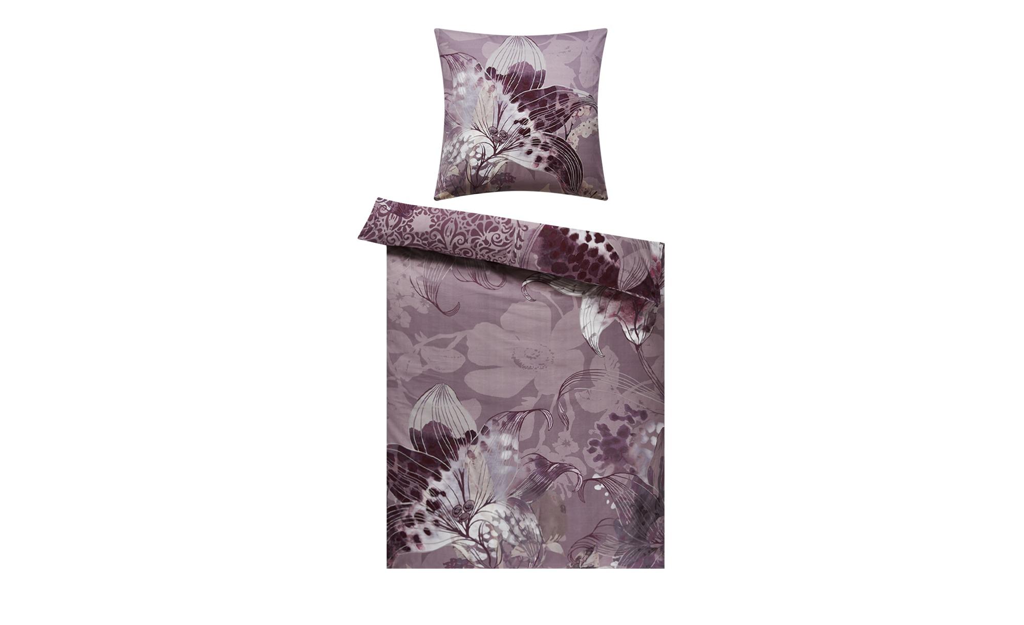 Biber Bettwäsche  Lilie ¦ lila/violett ¦ 100% Baumwolle ¦ Maße (cm): B: 135 Bettwaren > Bettwäsche-Sets > weitere Bettwäschesets - Höffner