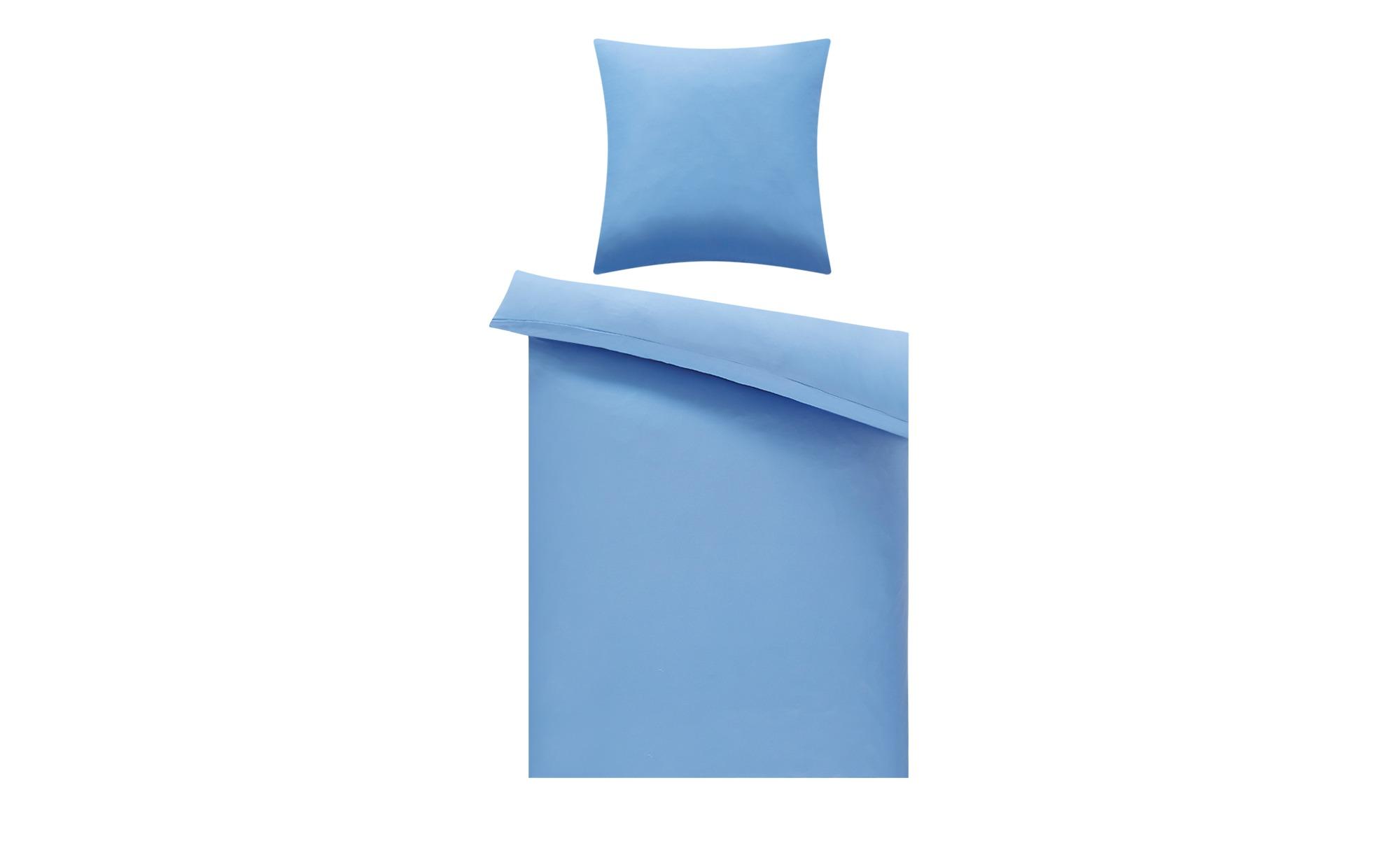 levelone Microfaser Bettwäsche  Uni ¦ blau ¦ 100% Polyester   ¦ Maße (cm): B: 135 H: 200 Bettwaren > Bettwäsche-Sets > weitere Bettwäschesets - Höffner