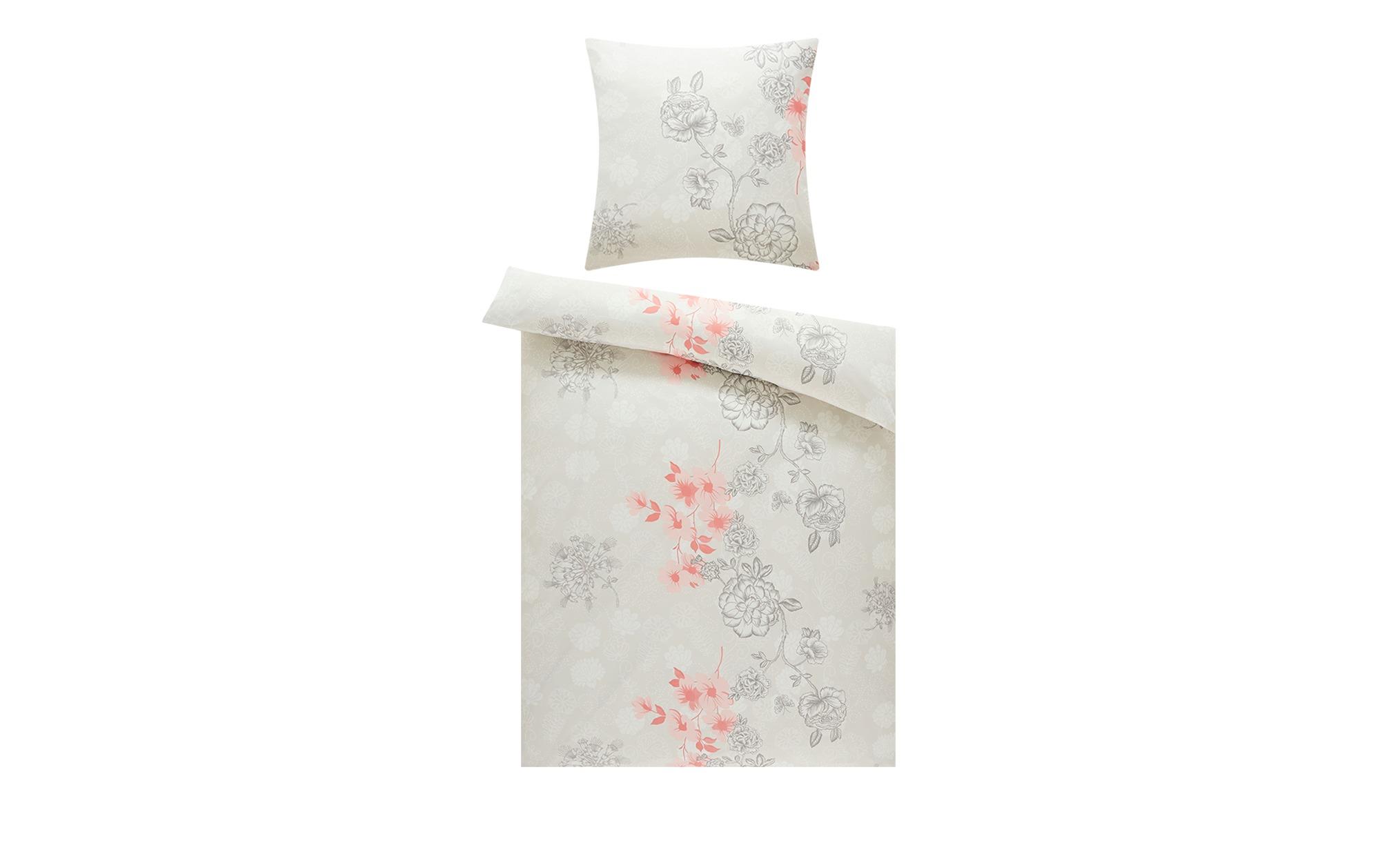 levelone Microfaser Bettwäsche  Blumen ¦ rosa/pink ¦ 100% Polyester ¦ Maße (cm): B: 135 H: 200 Bettwaren > Bettwäsche-Sets > weitere Bettwäschesets - Höffner
