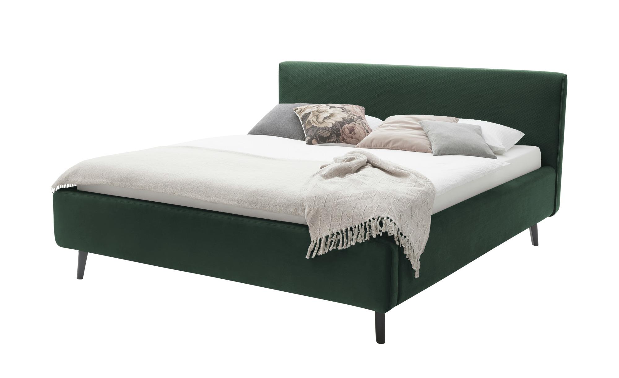 Polsterbett  Lewisham ¦ grün ¦ Maße (cm): B: 181 H: 222 T: 105 Betten > Polsterbetten - Höffner