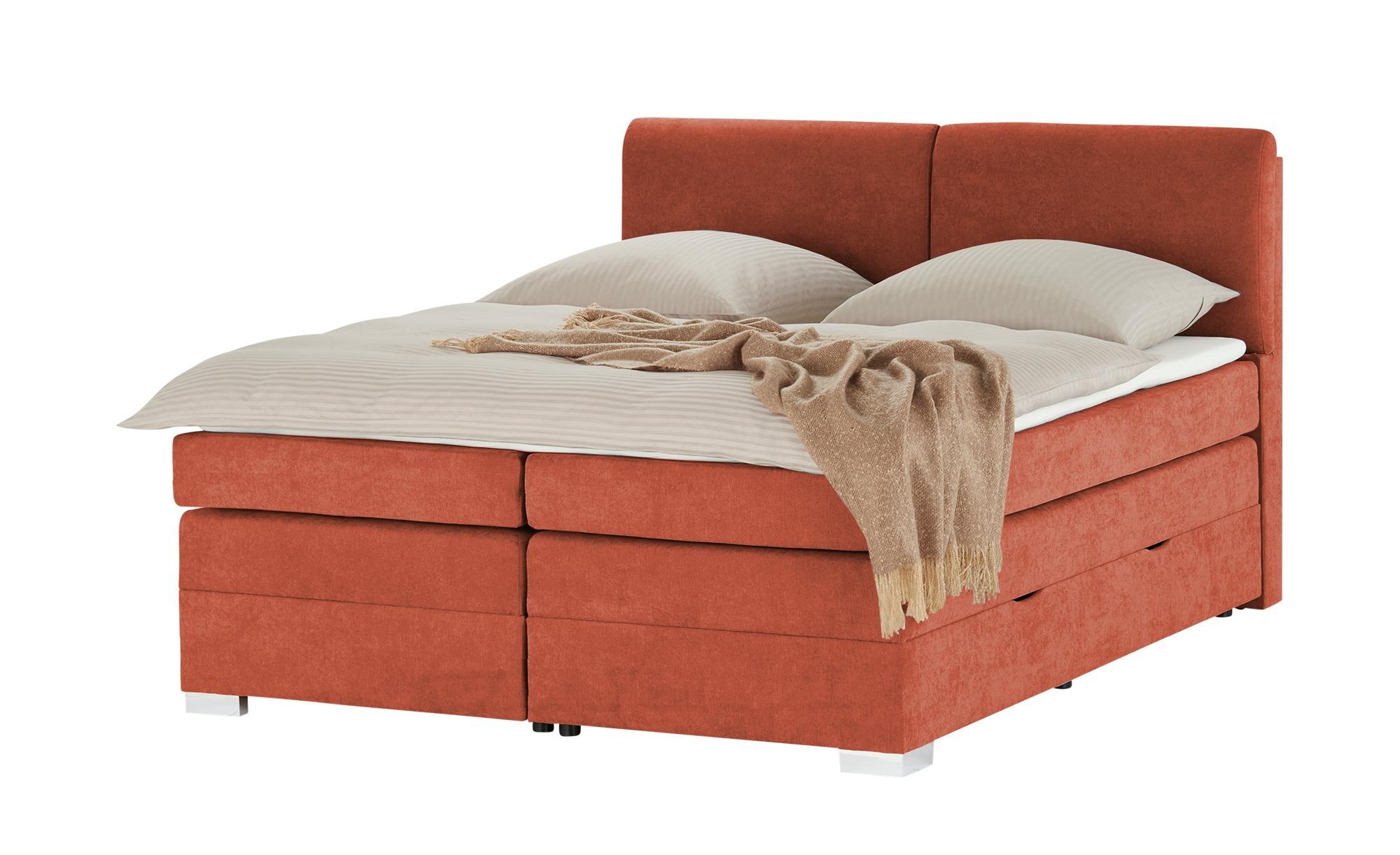 Boxspringbett  Archduchess ¦ orange ¦ Maße (cm): B: 180 H: 219 T: 219 Betten > Boxspringbetten > Boxspringbetten 180x200 - Höffner
