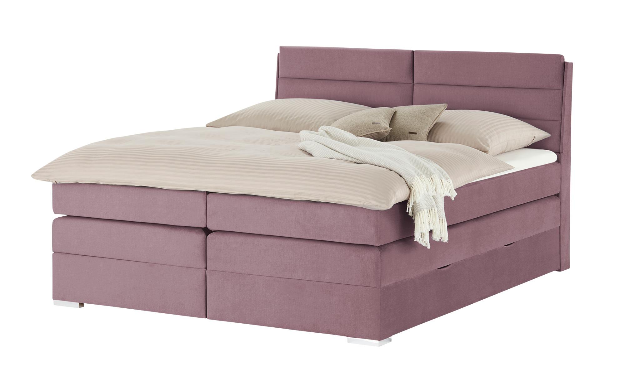 Boxspringbett  Wildgrave ¦ lila/violett ¦ Maße (cm): B: 162 H: 115 T: 217 Betten > Boxspringbetten > Boxspringbetten 160x200 - Höffner