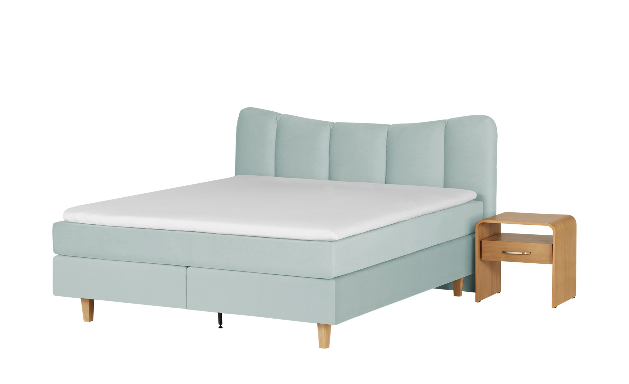 *Boxspringbett  Dalur 200 x 200 cm Eisblau – SKAGEN BEDS*