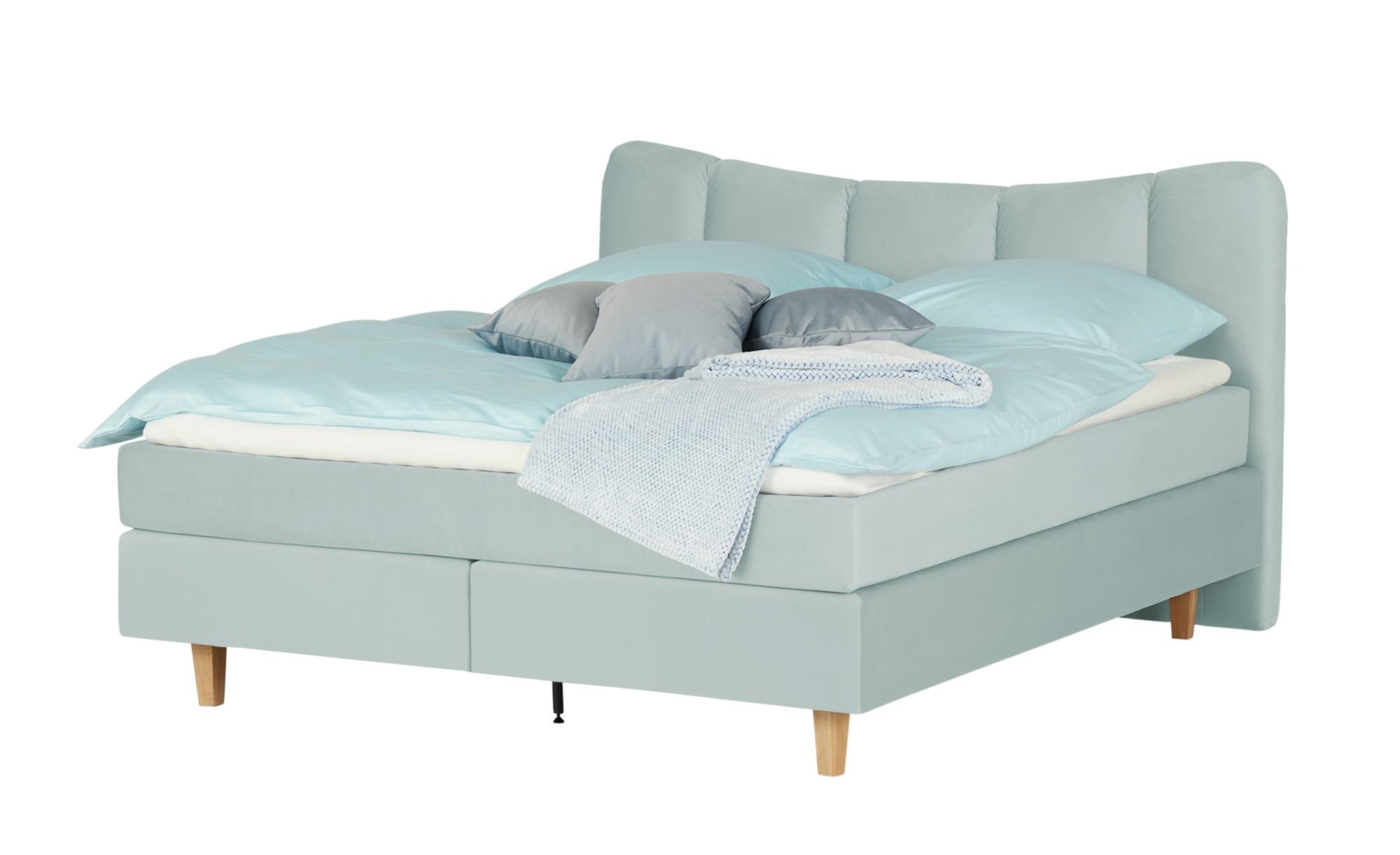 *Boxspringbett  Dalur 180 x 200 cm Eisblau – SKAGEN BEDS*