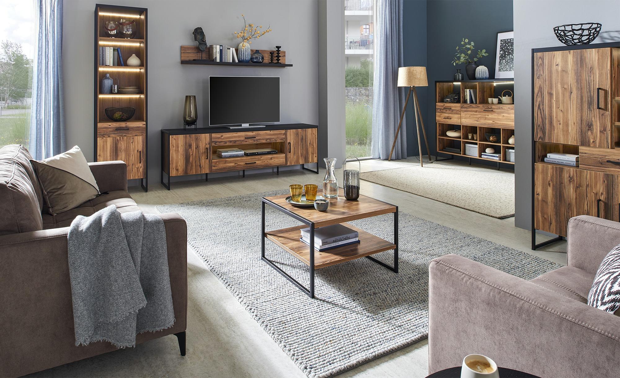 TV-Lowboard  Abeto ¦ holzfarben ¦ Maße (cm): B: 204 H: 67 T: 45 TV- & Media Möbel > TV-Racks - Höffner