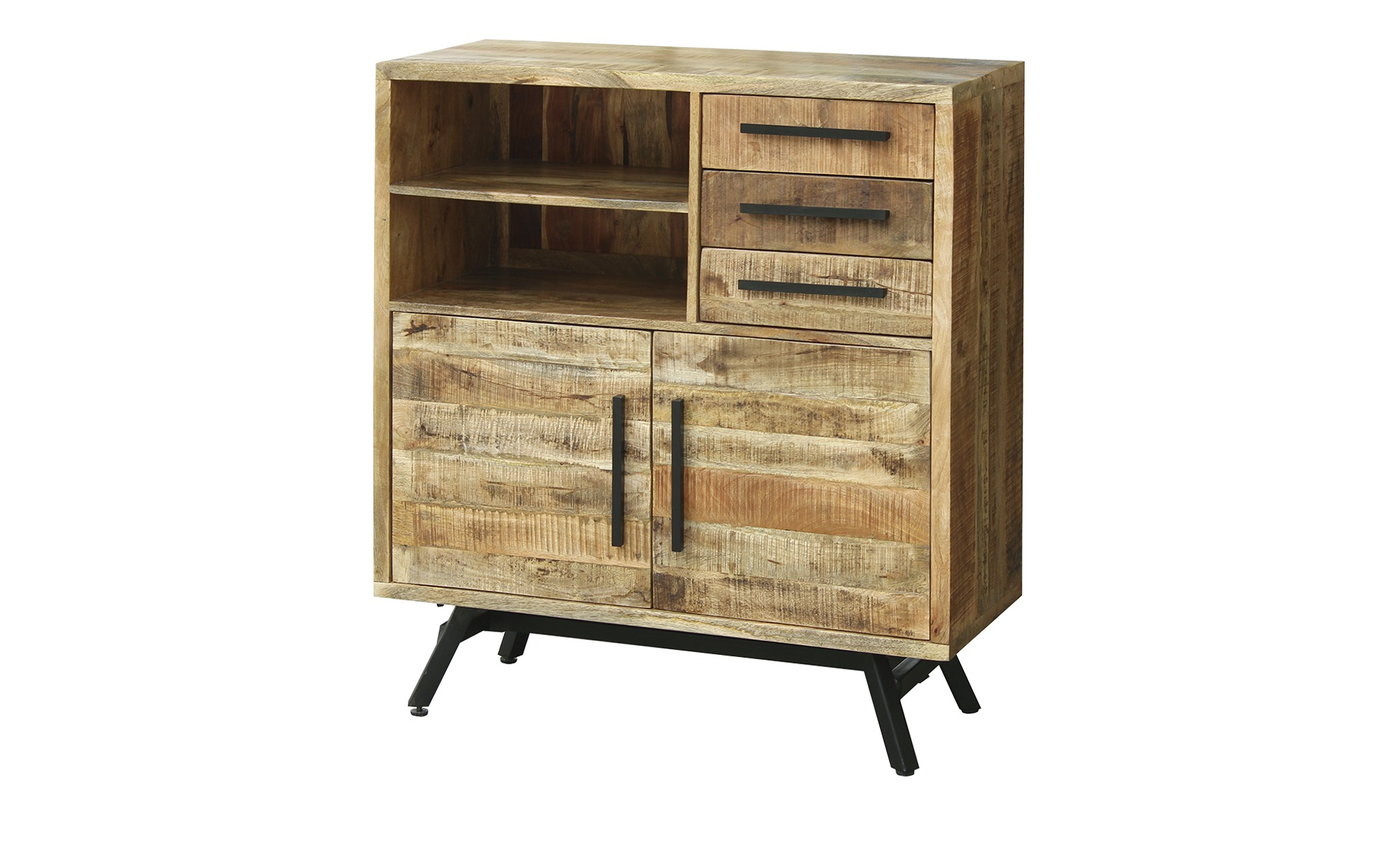 Highboard  Fullham ¦ holzfarben ¦ Maße (cm): B: 100 H: 108 T: 40 Kommoden & Sideboards > Highboards - Höffner
