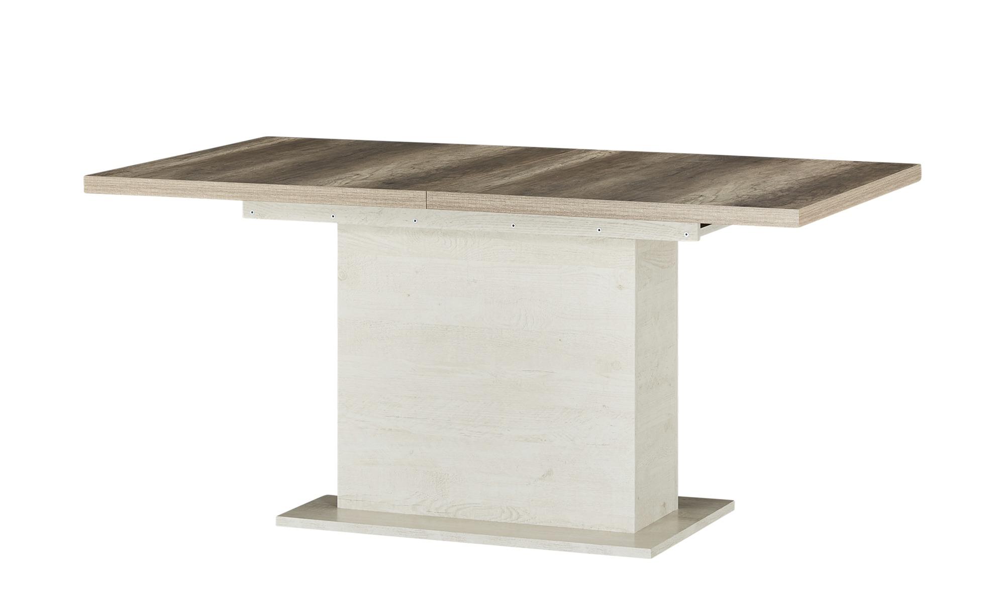 Esstisch  Viareggio ¦ weiß ¦ Maße (cm): B: 76,6 H: 90 Tische > Esstische > Esstische ausziehbar - Höffner