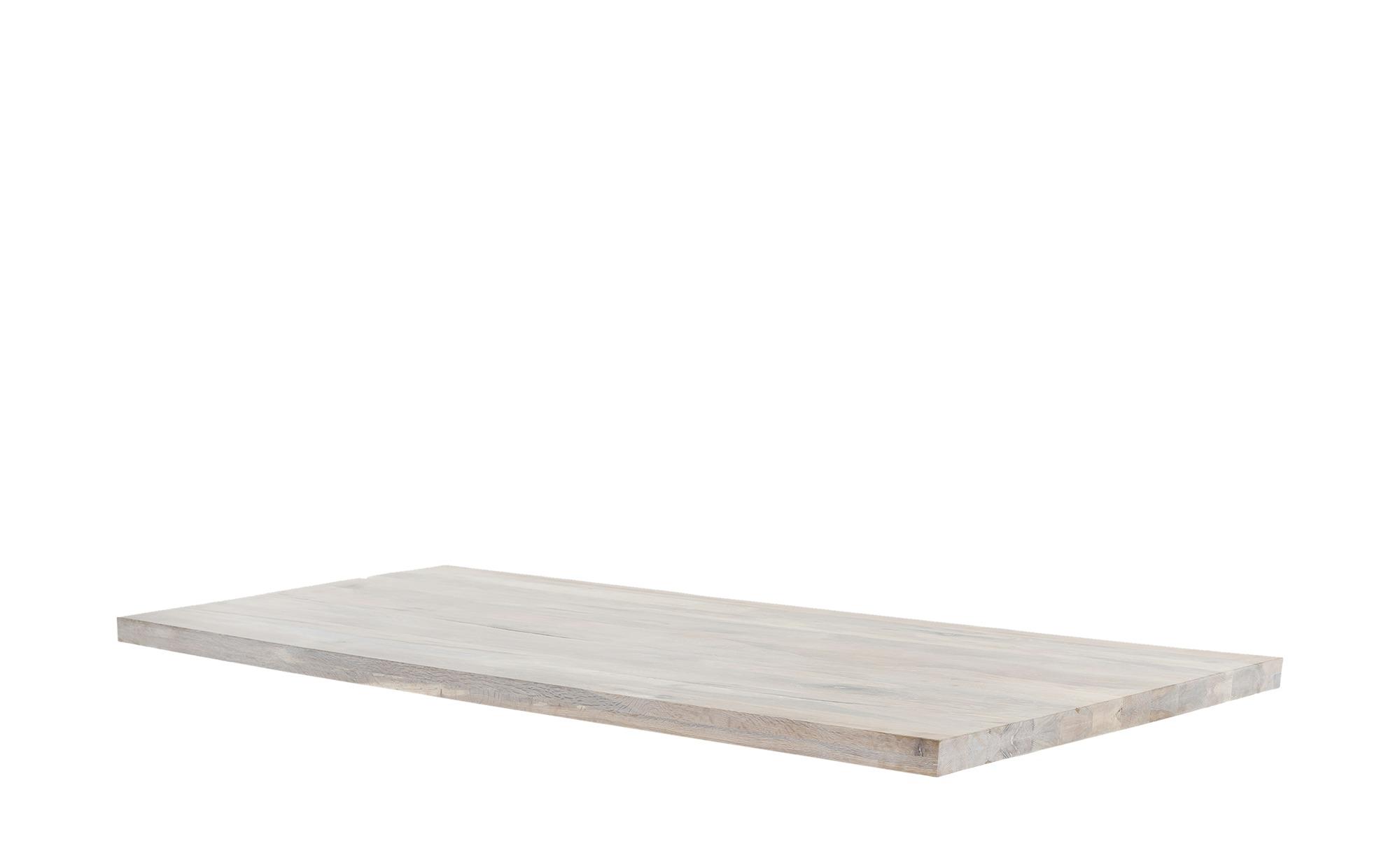 #Tischplatte  Tuxa massiv ¦ weiß ¦ Massivholz, gekälkt ¦ Maße (cm): B: 90 H: 5 Tische > Tischplatten – Höffner#