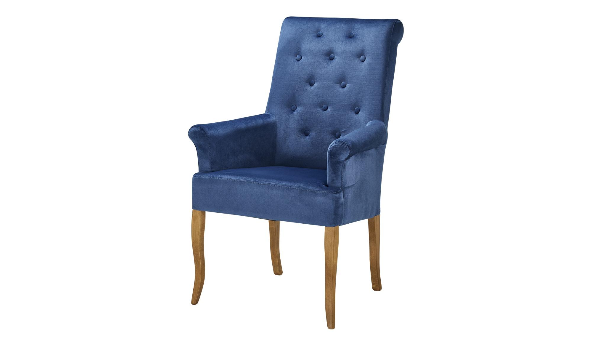 smart Polsterstuhl  Nora ¦ blau Stühle > Esszimmerstühle > Esszimmerstühle mit Armlehnen - Höffner