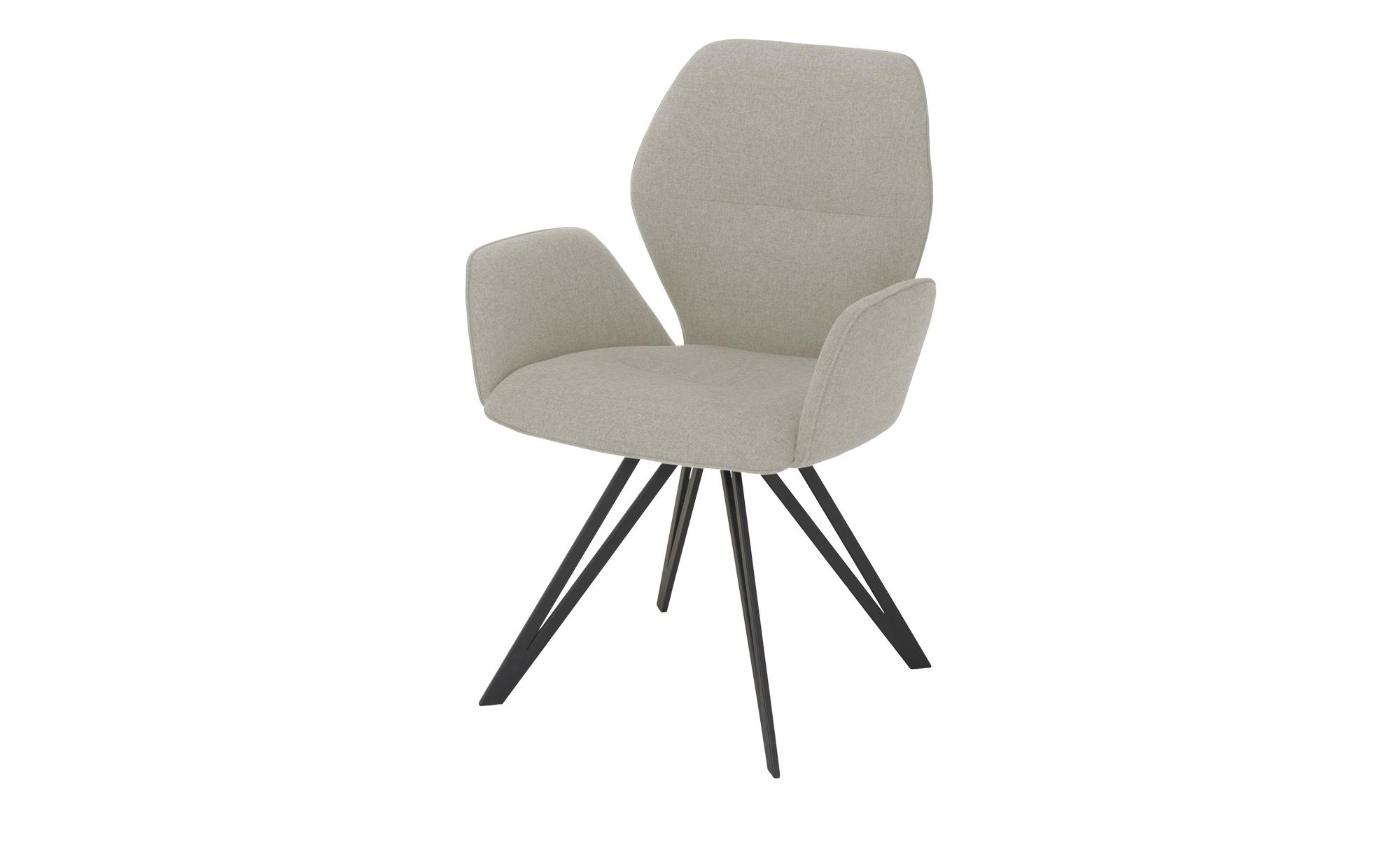 Armlehnstuhl  Merlot ¦ grau Stühle > Esszimmerstühle > Esszimmerstühle mit Armlehnen - Höffner