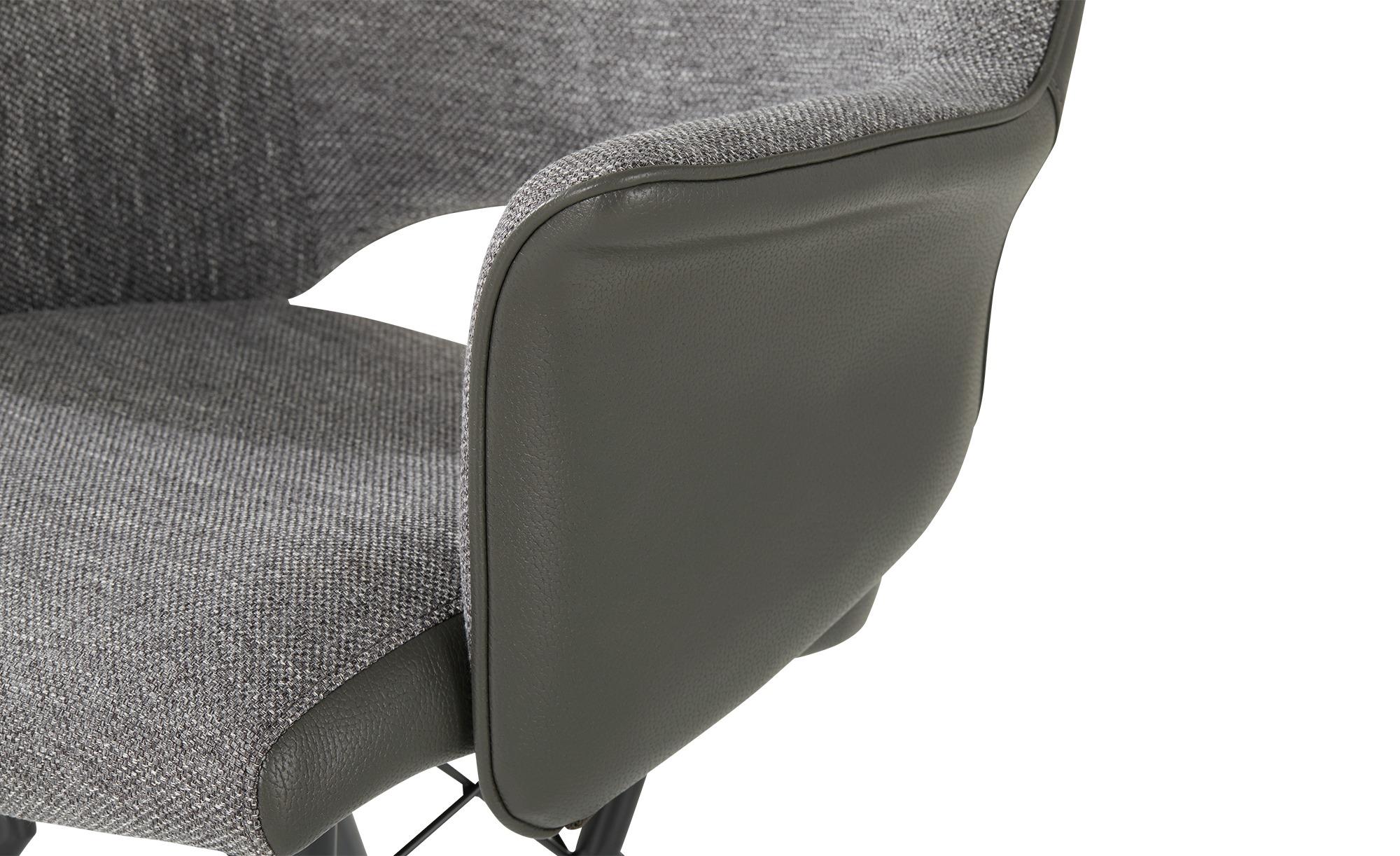 uno Sessel  Vineo ¦ grau ¦ Maße (cm): B: 63 H: 86,5 T: 66 Stühle > Esszimmerstühle > Esszimmerstühle mit Armlehnen - Höffner