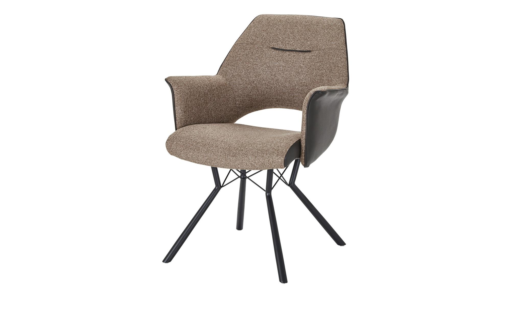 uno Sessel  Vineo ¦ braun ¦ Maße (cm): B: 63 H: 86,5 T: 66 Stühle > Esszimmerstühle > Esszimmerstühle mit Armlehnen - Höffner