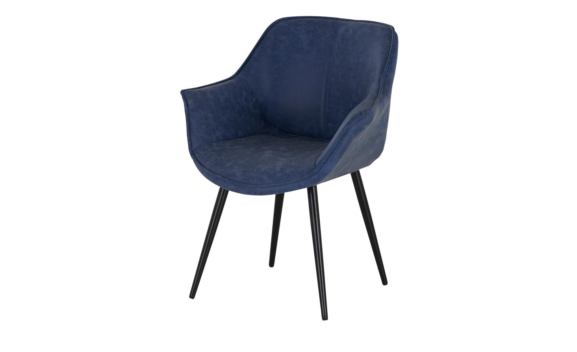Armlehnstuhl  James ¦ blau Stühle > Esszimmerstühle > Esszimmerstühle mit Armlehnen - Höffner