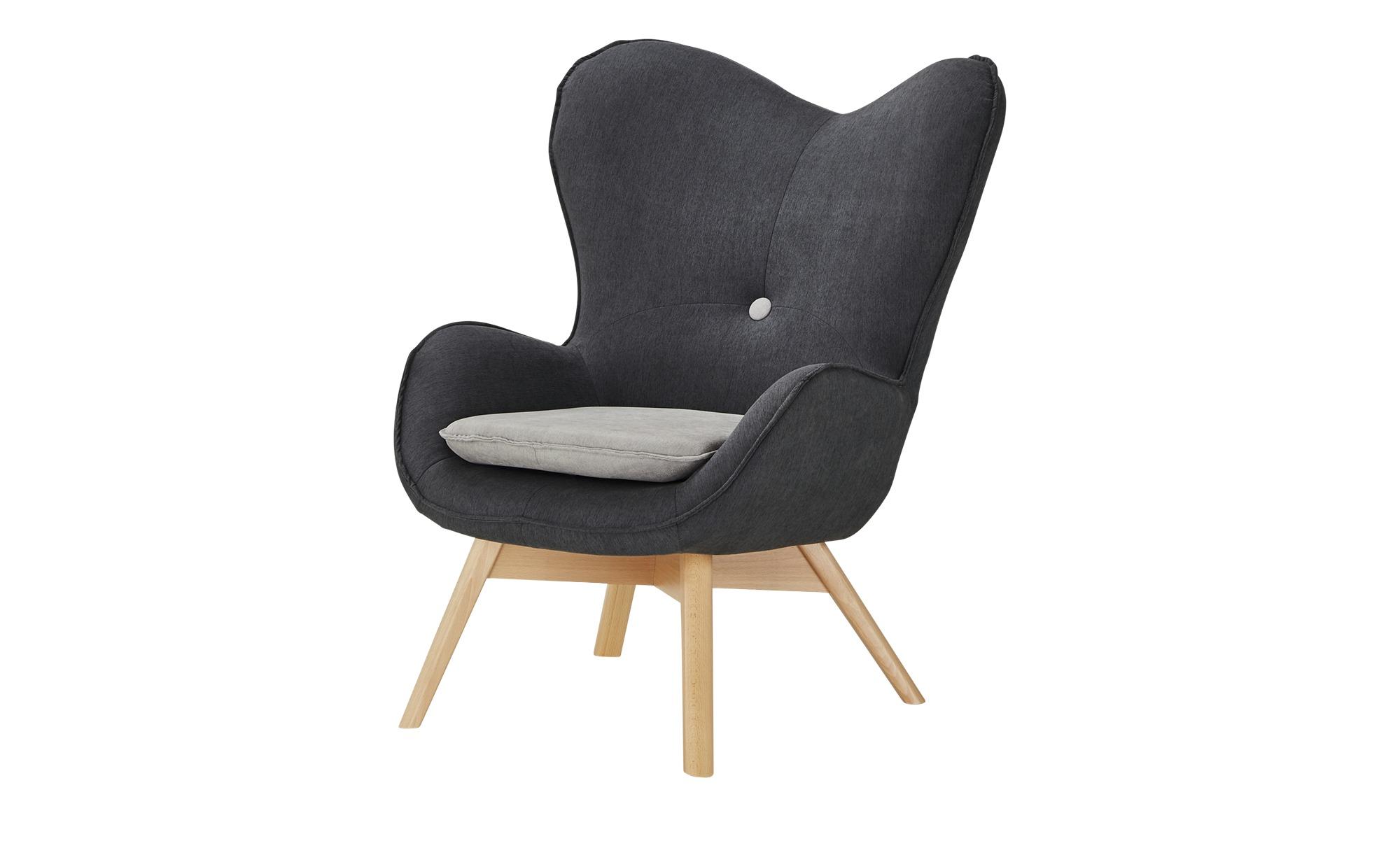 Sessel  Maxi ¦ grau ¦ Maße (cm): B: 86 H: 100 T: 92 Polstermöbel > Sessel > Ohrensessel - Höffner