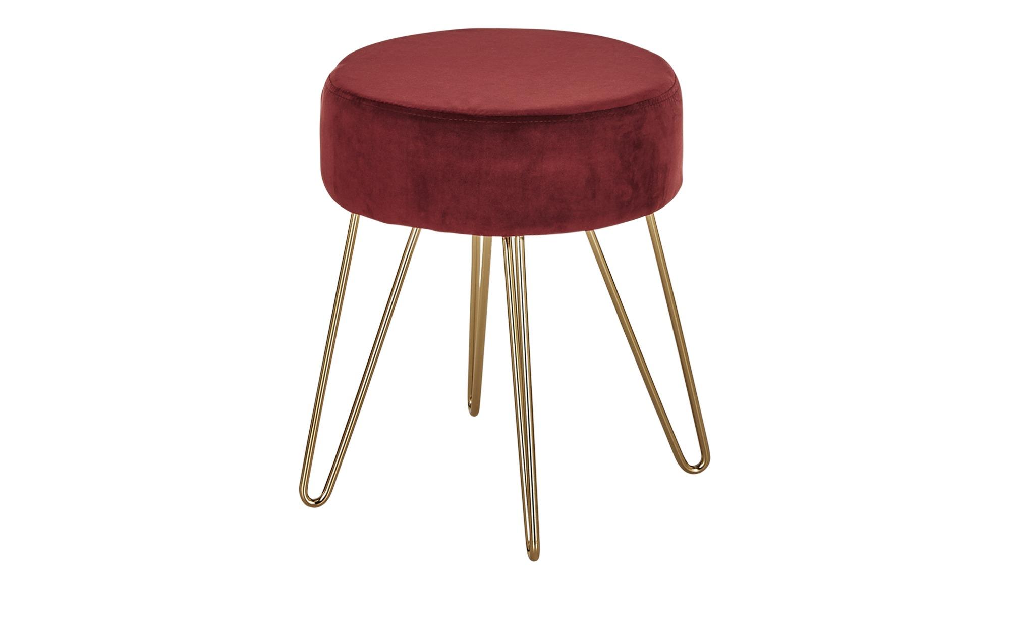 Sitzhocker in Rot und Gold