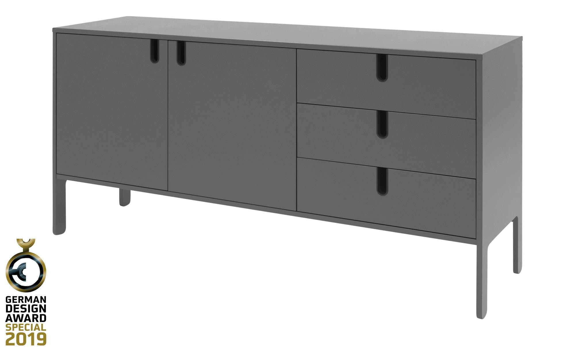 Sideboard  Uno ¦ grau ¦ Maße (cm): B: 171 H: 86 T: 46 Kommoden & Sideboards > Kommoden - Höffner