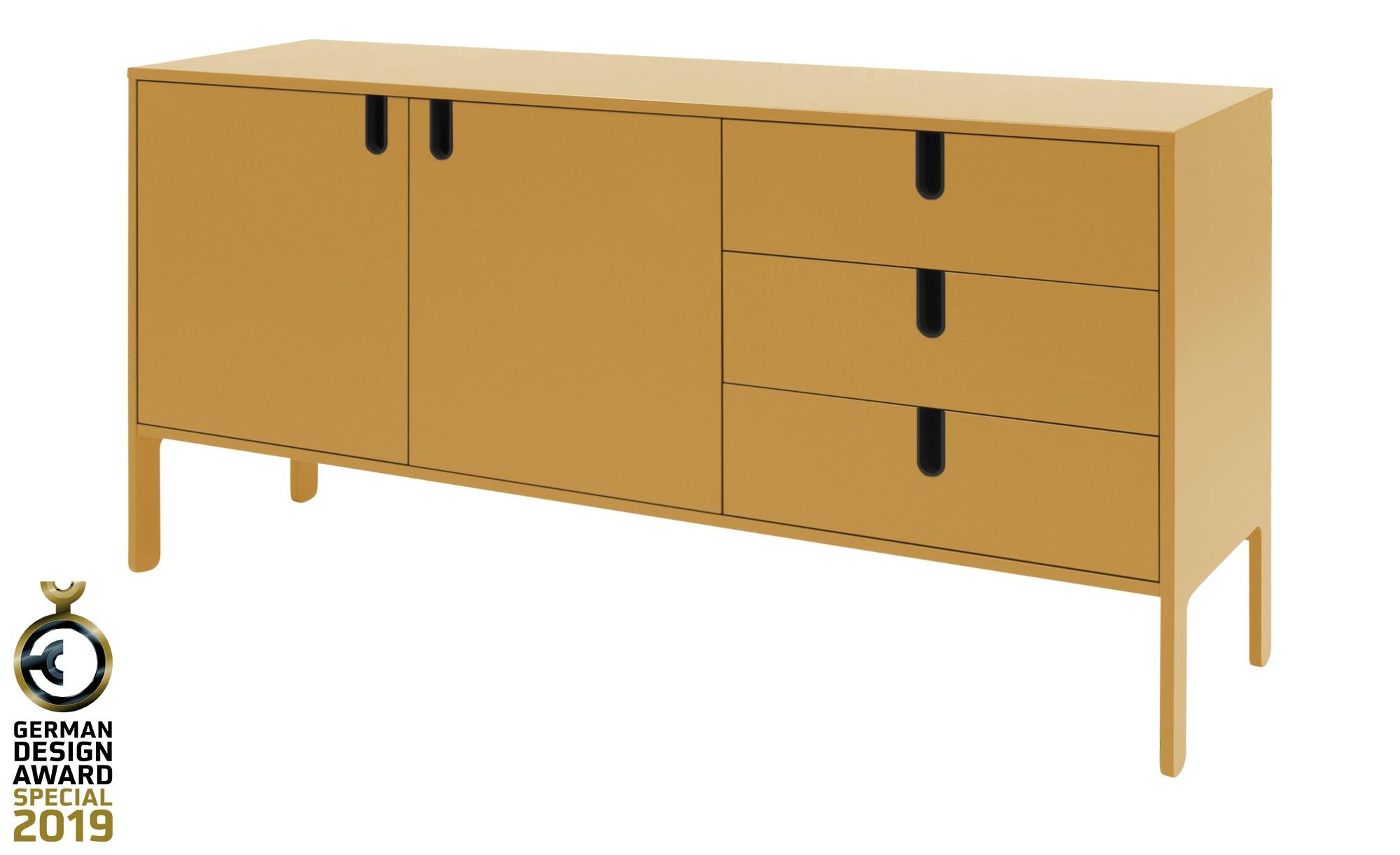 Sideboard  Uno ¦ gelb ¦ Maße (cm): B: 171 H: 86 T: 46 Kommoden & Sideboards > Kommoden - Höffner