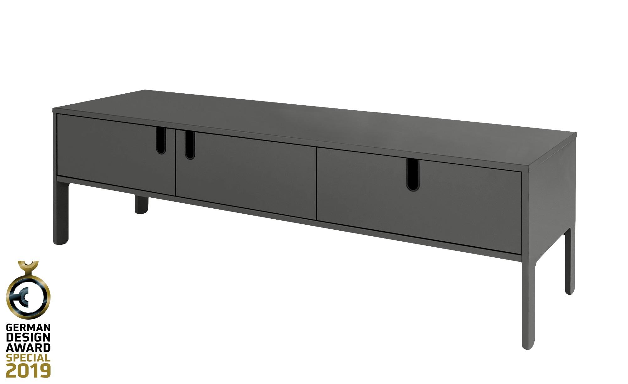 TV-Lowboard  Uno ¦ grau ¦ Maße (cm): B: 171 H: 50 T: 46 TV- & Media Möbel > TV-Racks - Höffner