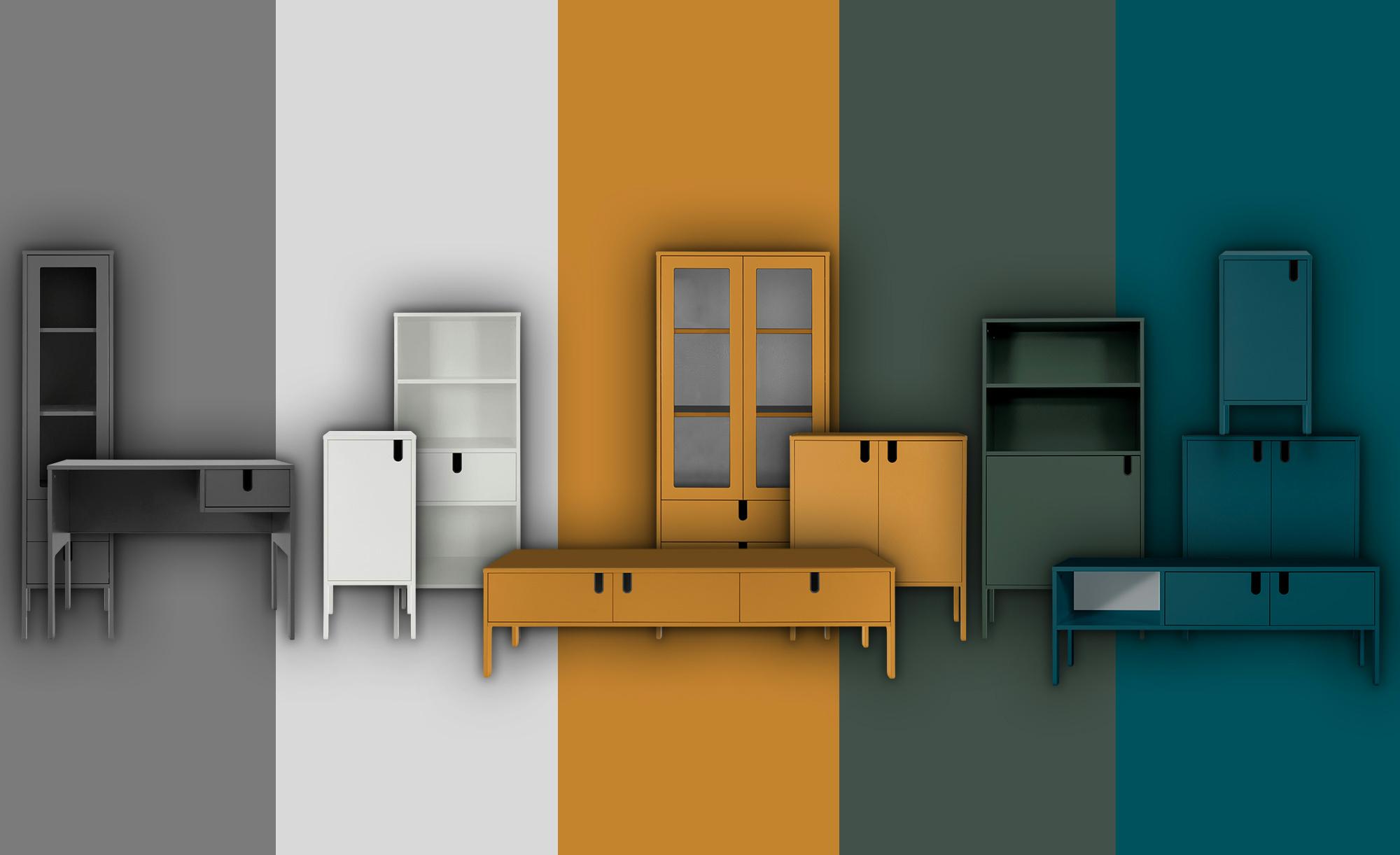 TV-Lowboard  Uno ¦ gelb ¦ Maße (cm): B: 171 H: 50 T: 46 TV- & Media Möbel > TV-Racks - Höffner